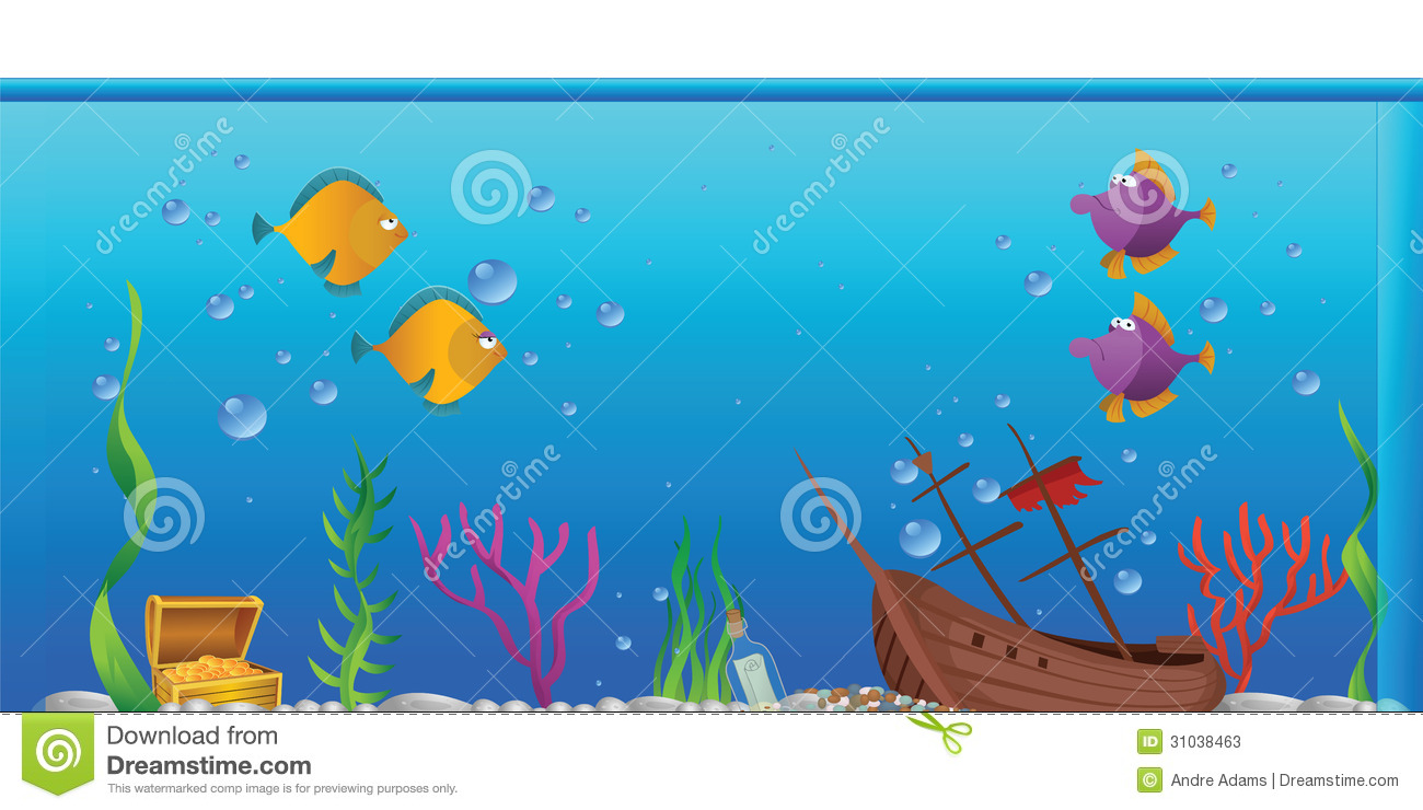 3d fish tank background