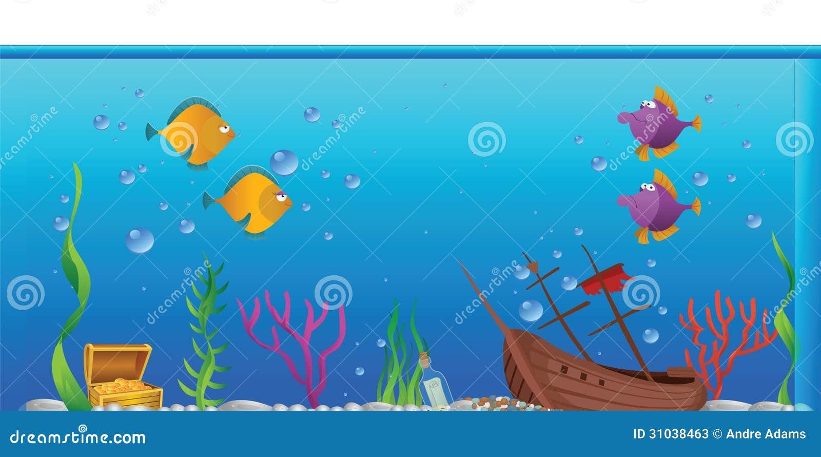 Aquarium Fishtank Stock Vector Illustration Of Tropical 31038463