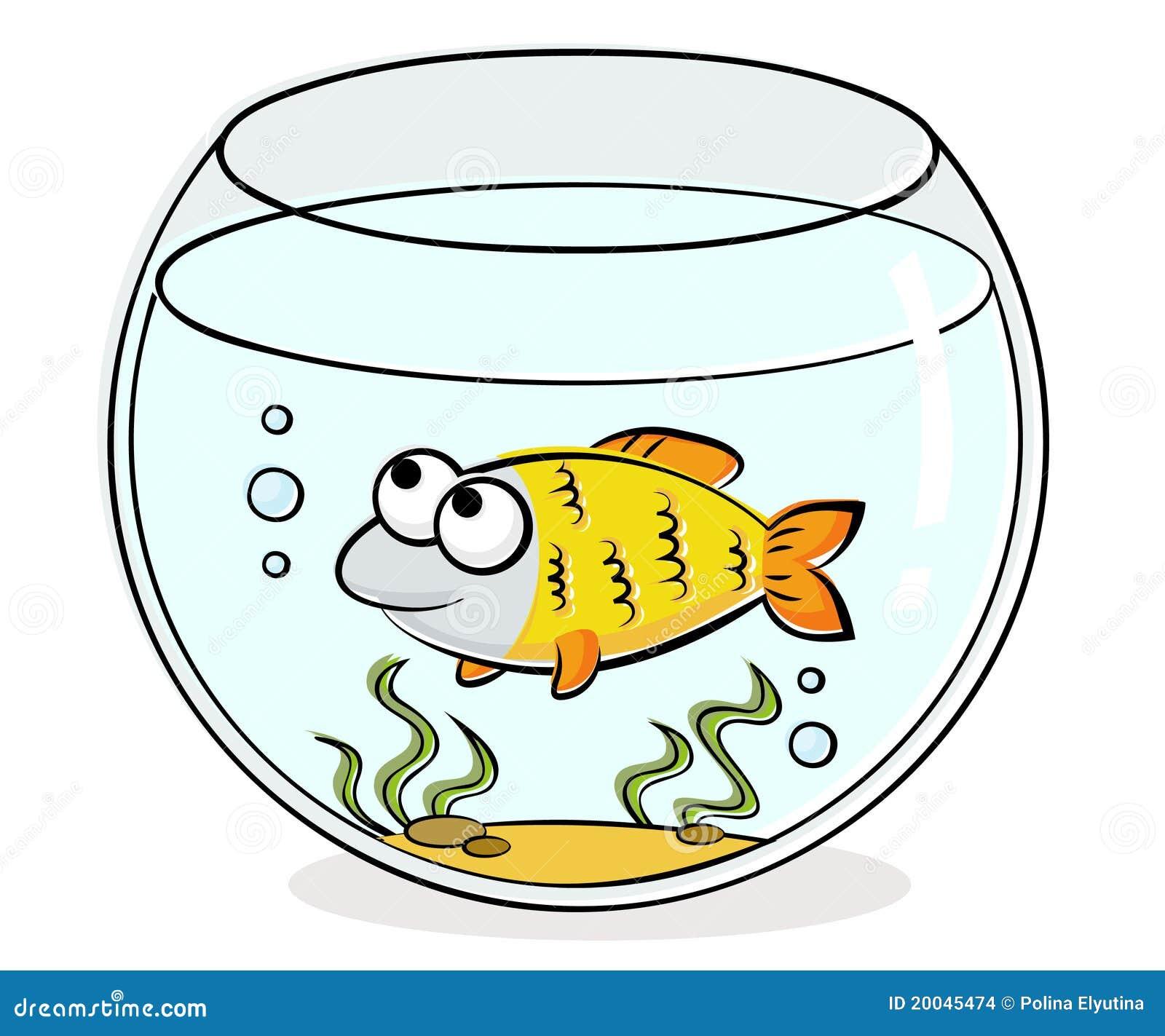 aquarium mit lustigen fischen vektor abbildung illustration von swim karikaturen 20045474. Black Bedroom Furniture Sets. Home Design Ideas