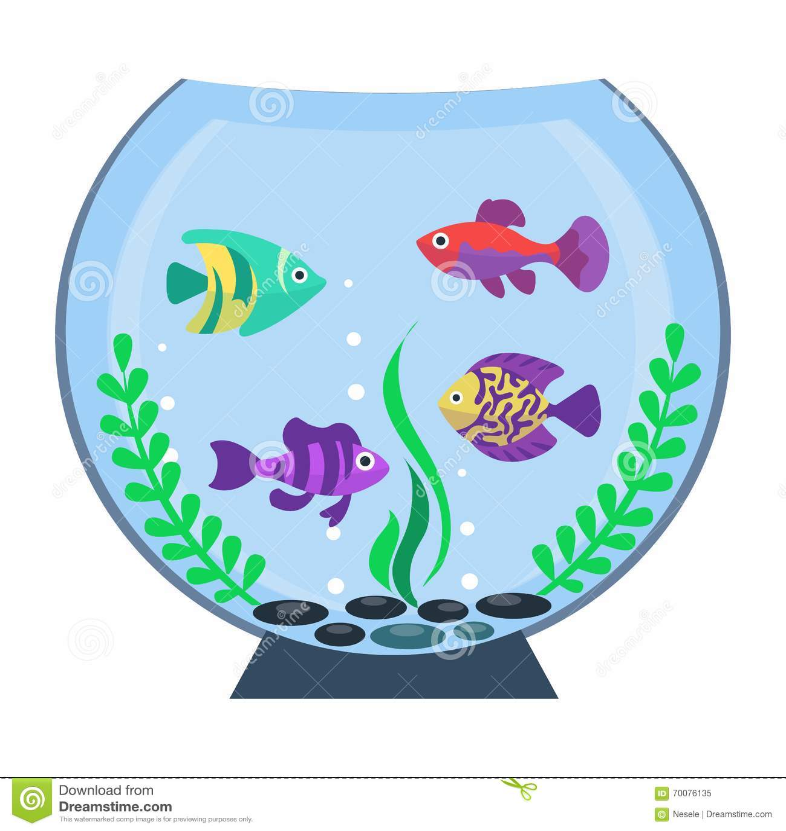 Aquarium plat de vecteur illustration de vecteur image for Aquarium plat
