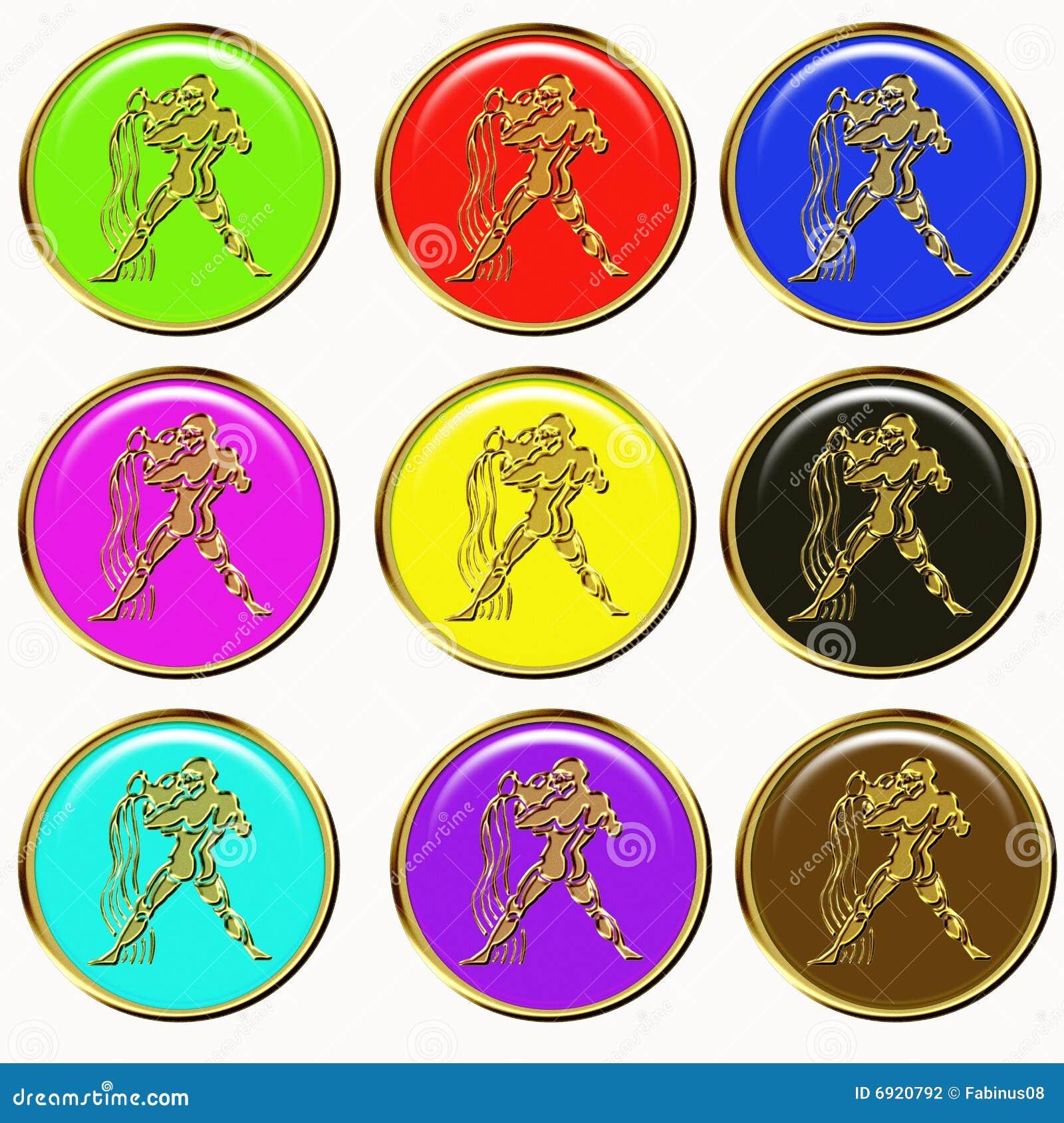 Aquarius Horoscope Buttons
