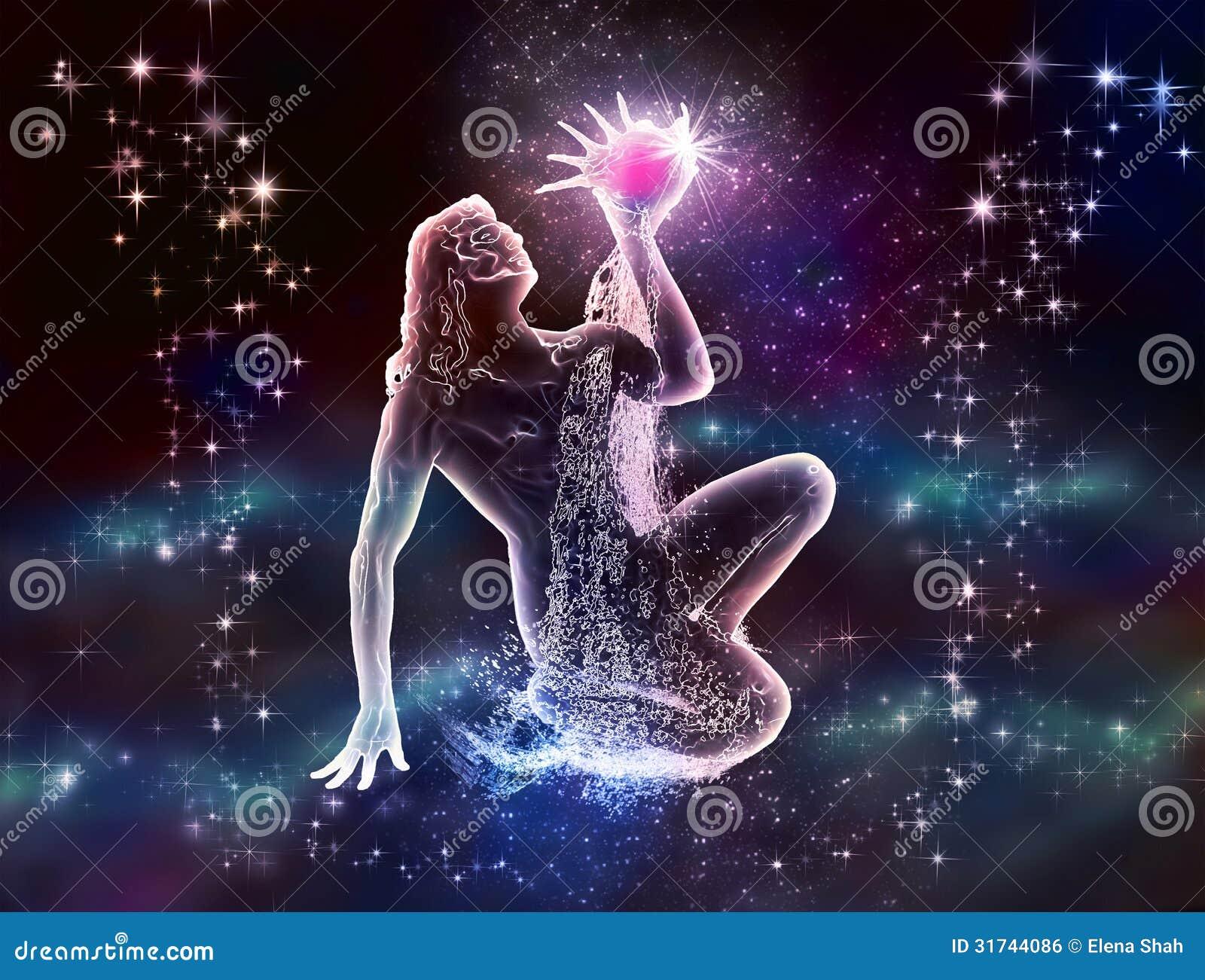 Zodiac Aquarius Water-Bearer is mystique and charm  The night sky and    Water Bearer Aquarius