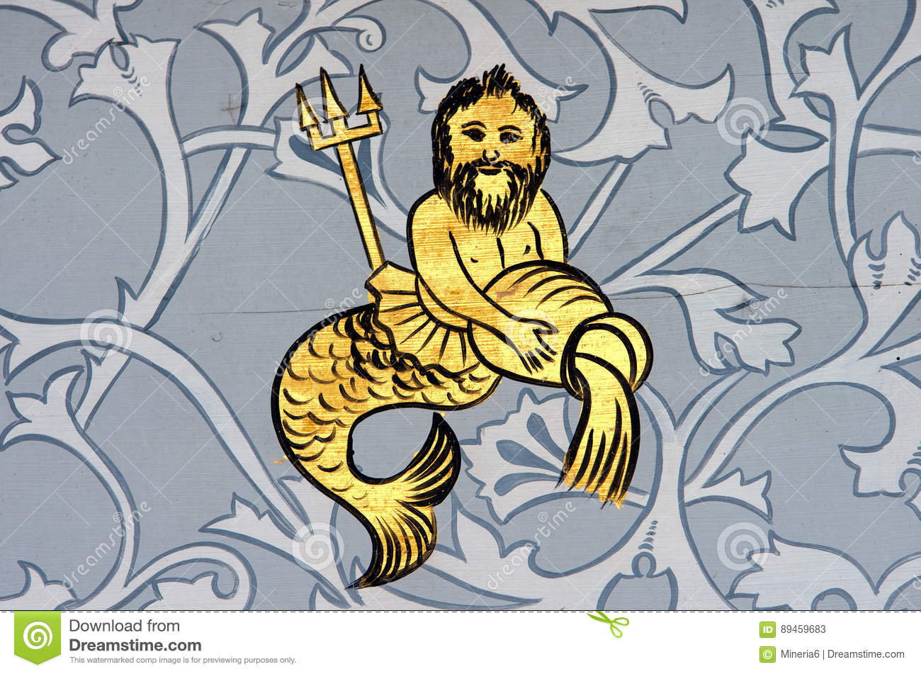 Aquarius The Water Bearer Zodiac Sign Stock Image Image Of Painting Paintind 89459683