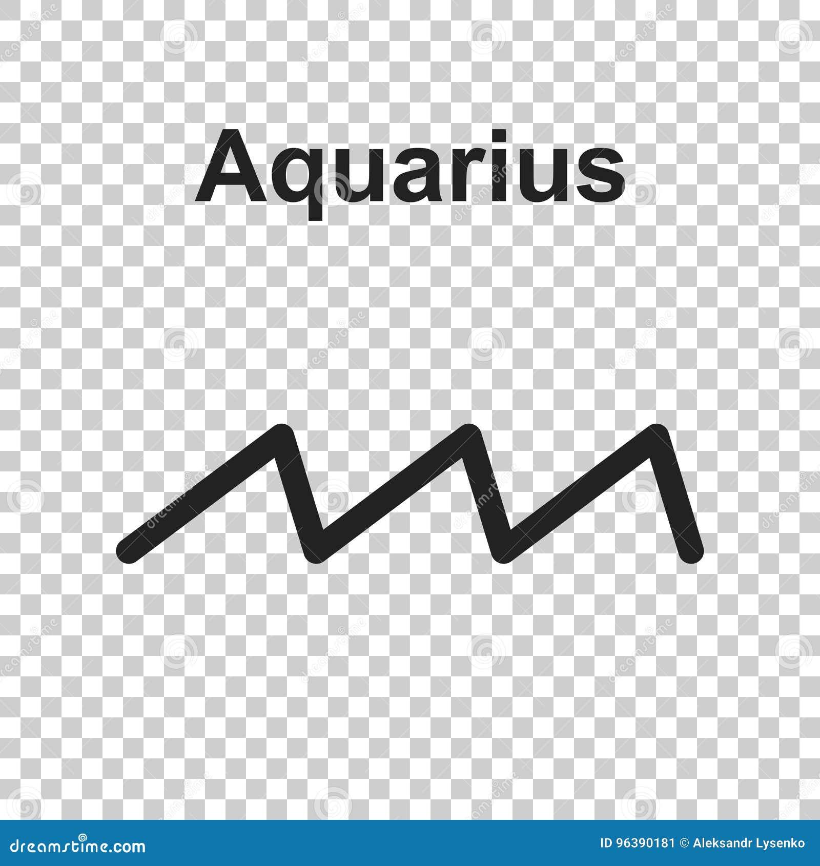 Aquarius Zodiac Sign Flat Astrology Vector Illustration On Whit