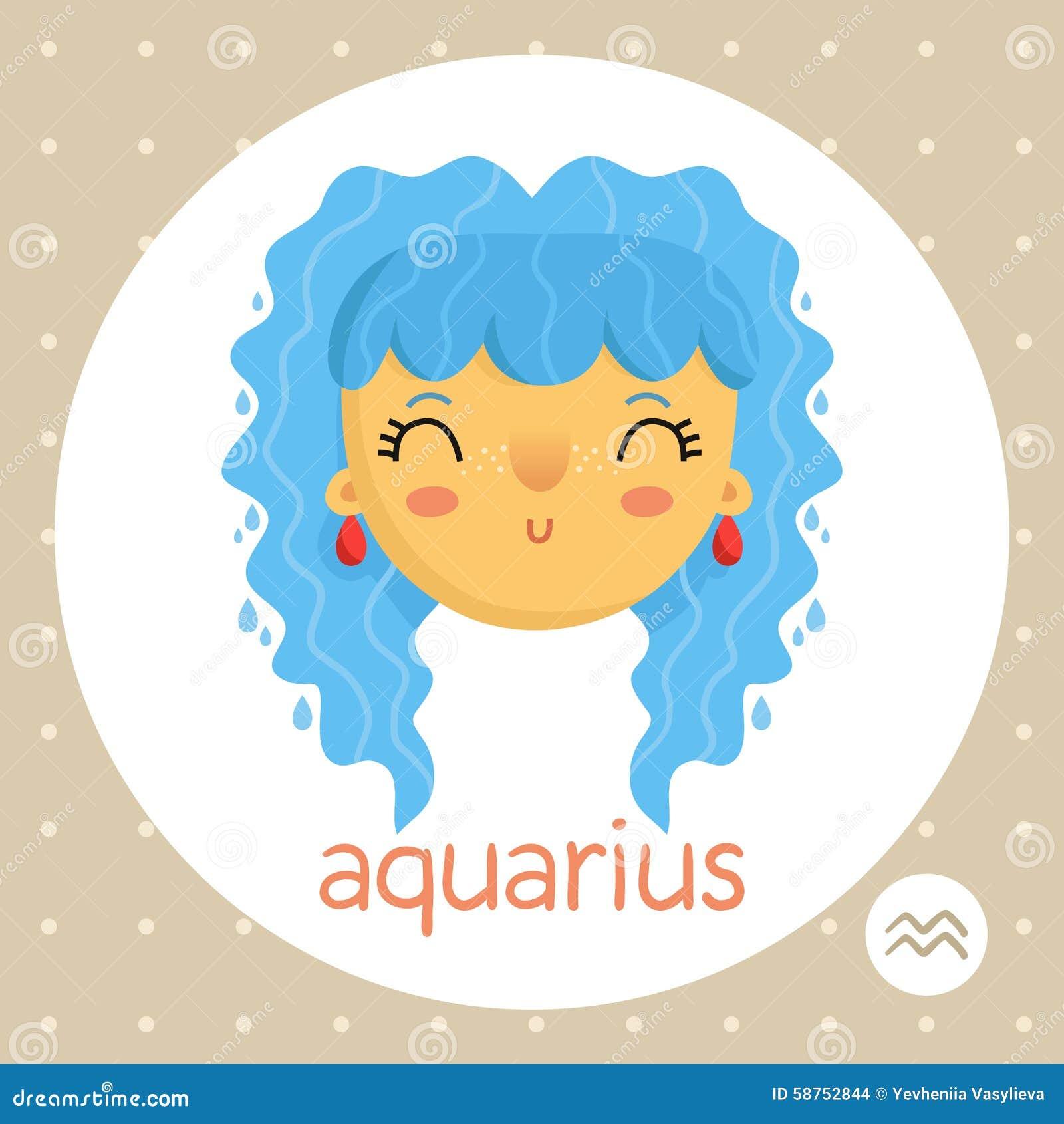 Aquarius zodiac sign girl with water drops stock vector aquarius zodiac sign girl with water drops buycottarizona