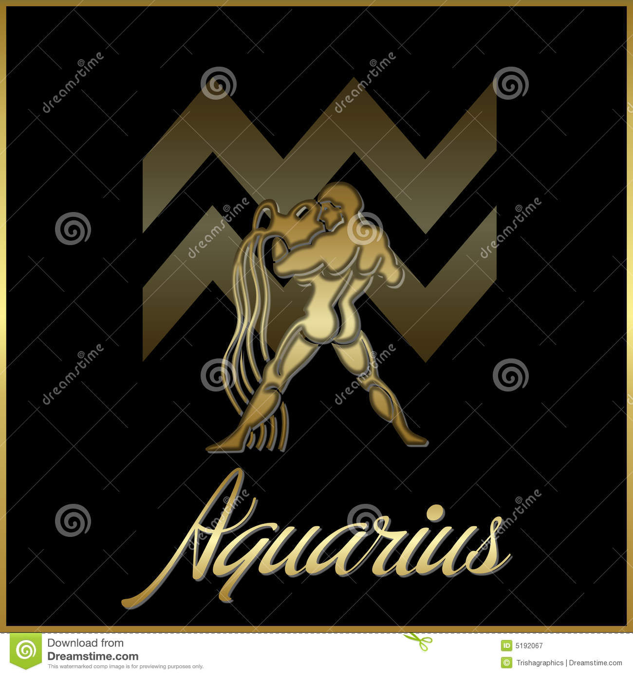 Astrology Sign Aquarius Zodiac Star Sign Royalty Free Stock Photography