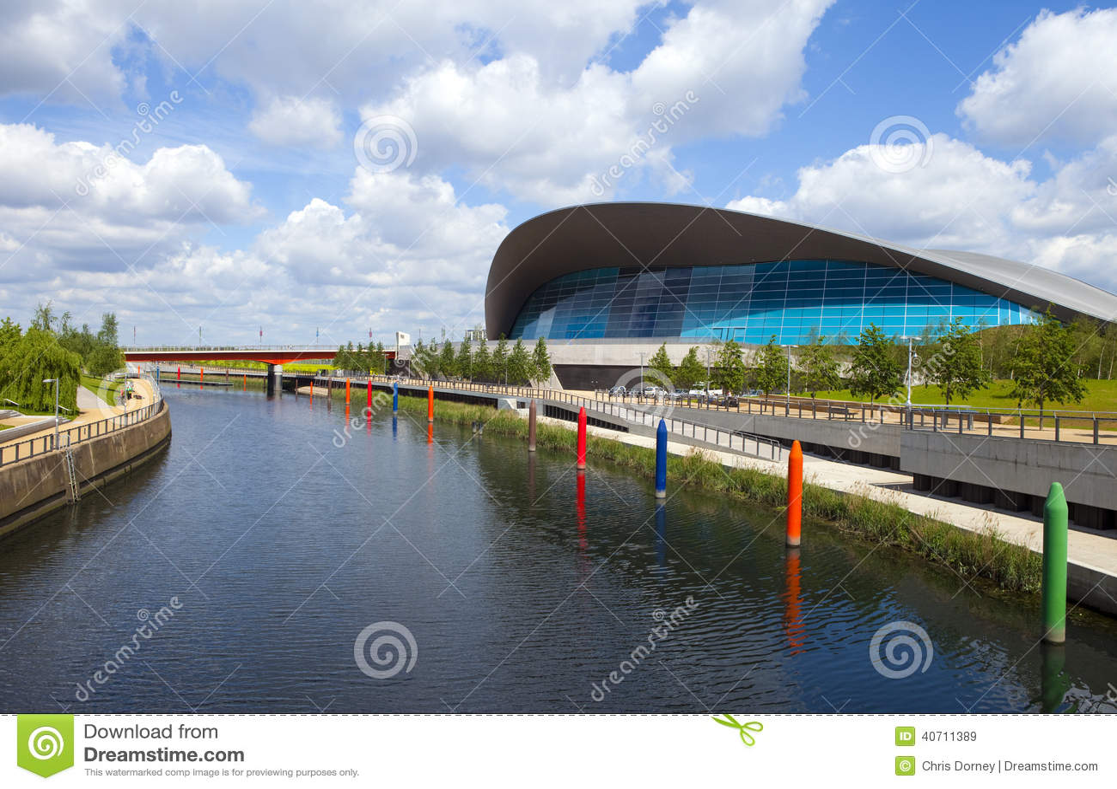 The Aquatics Centre In The Queen Elizabeth Olympic Park In Londo Editorial Stock Image Image
