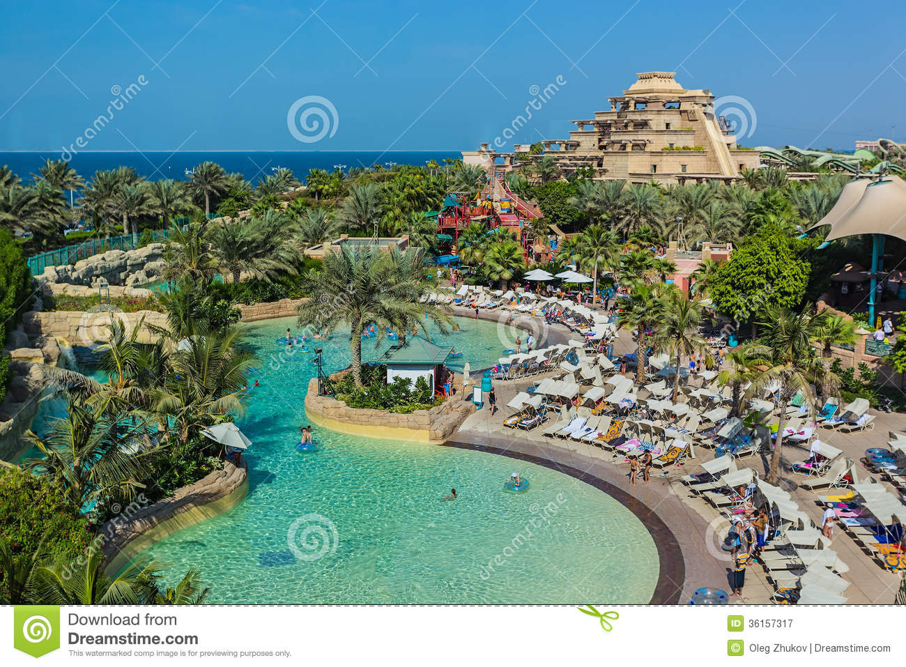 The Aquaventure Waterpark Of Atlantis Royalty Free Stock Photography ...