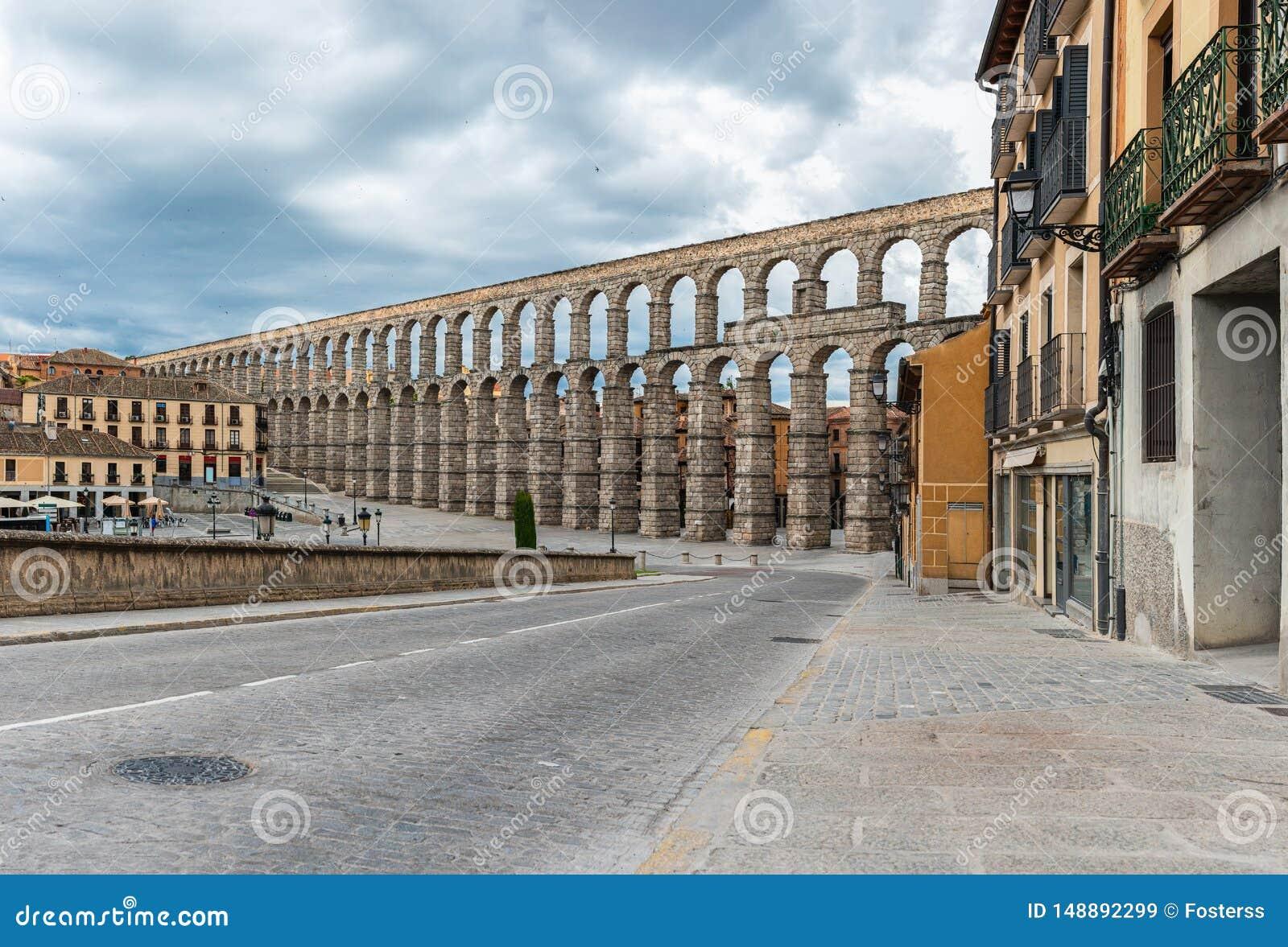 Aquedotto antico a Segovia, Castiglia y Leon, Spagna