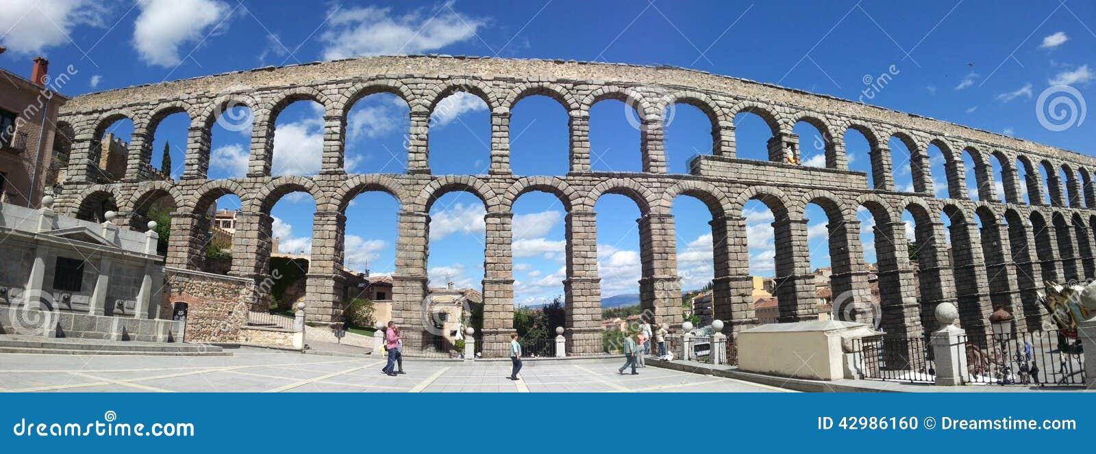Aqueduto na Espanha de Segovia
