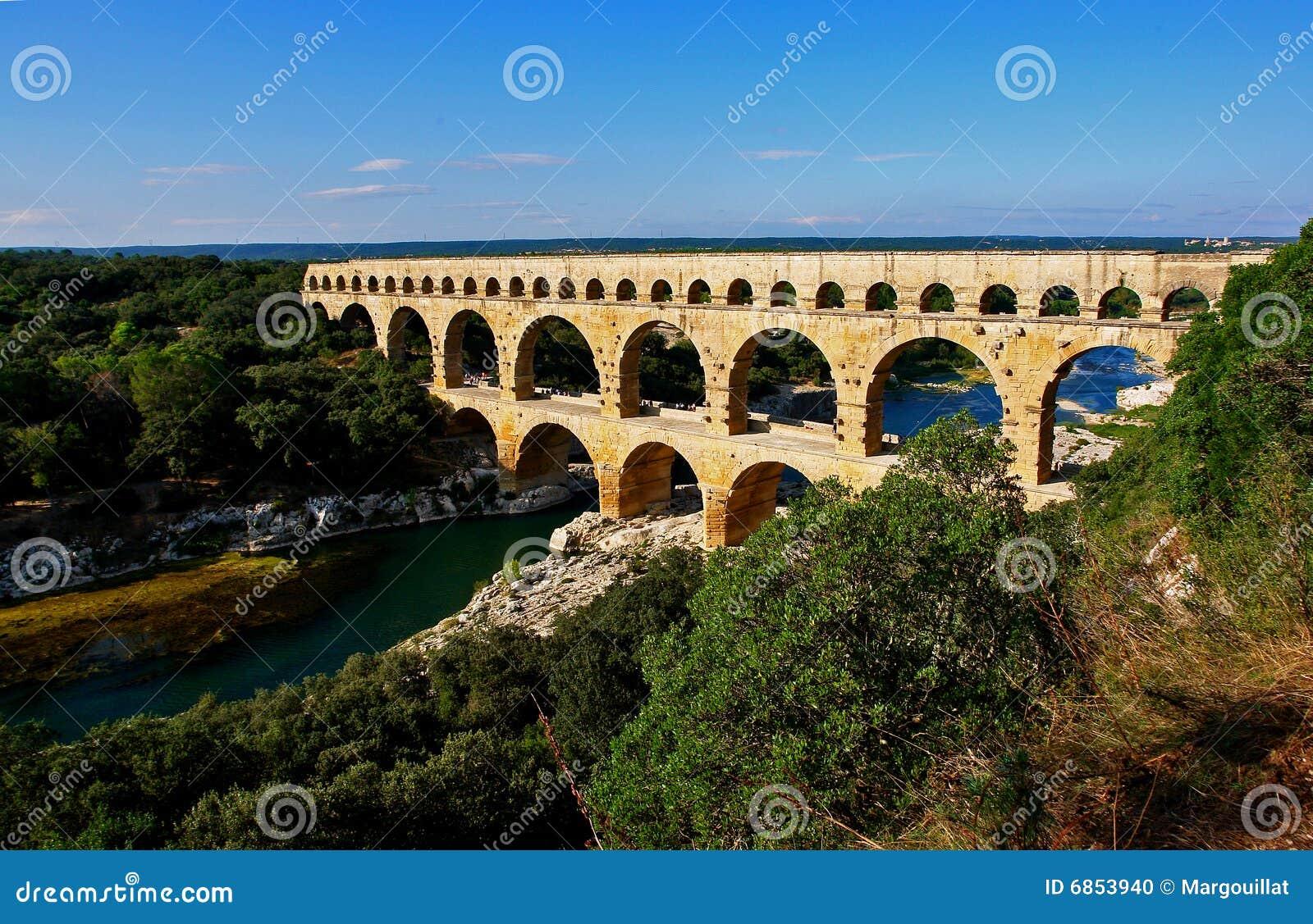 Aqueduto romano de Pont Du Gard