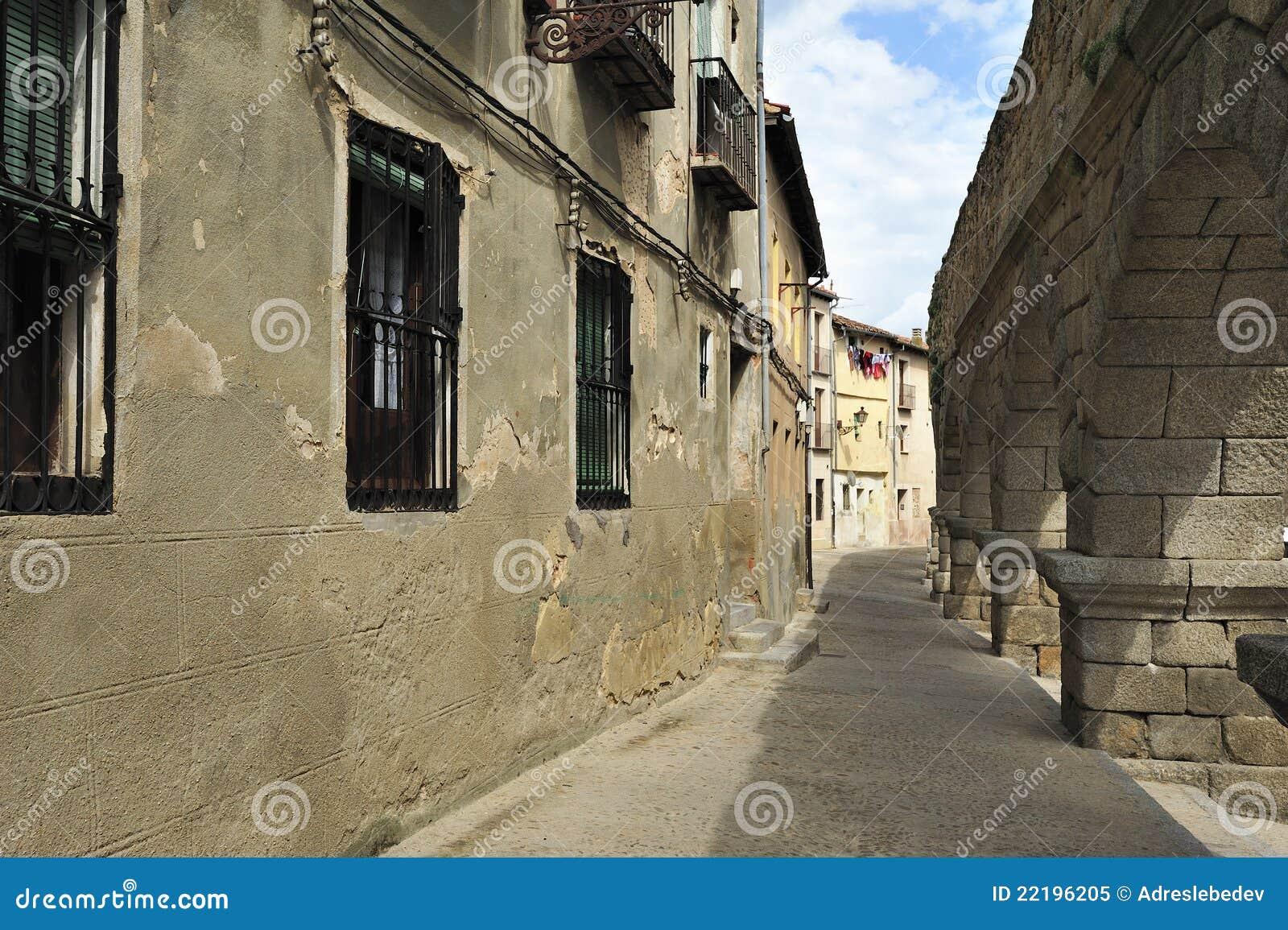 Aqueduto romano em Segovia (Spain)