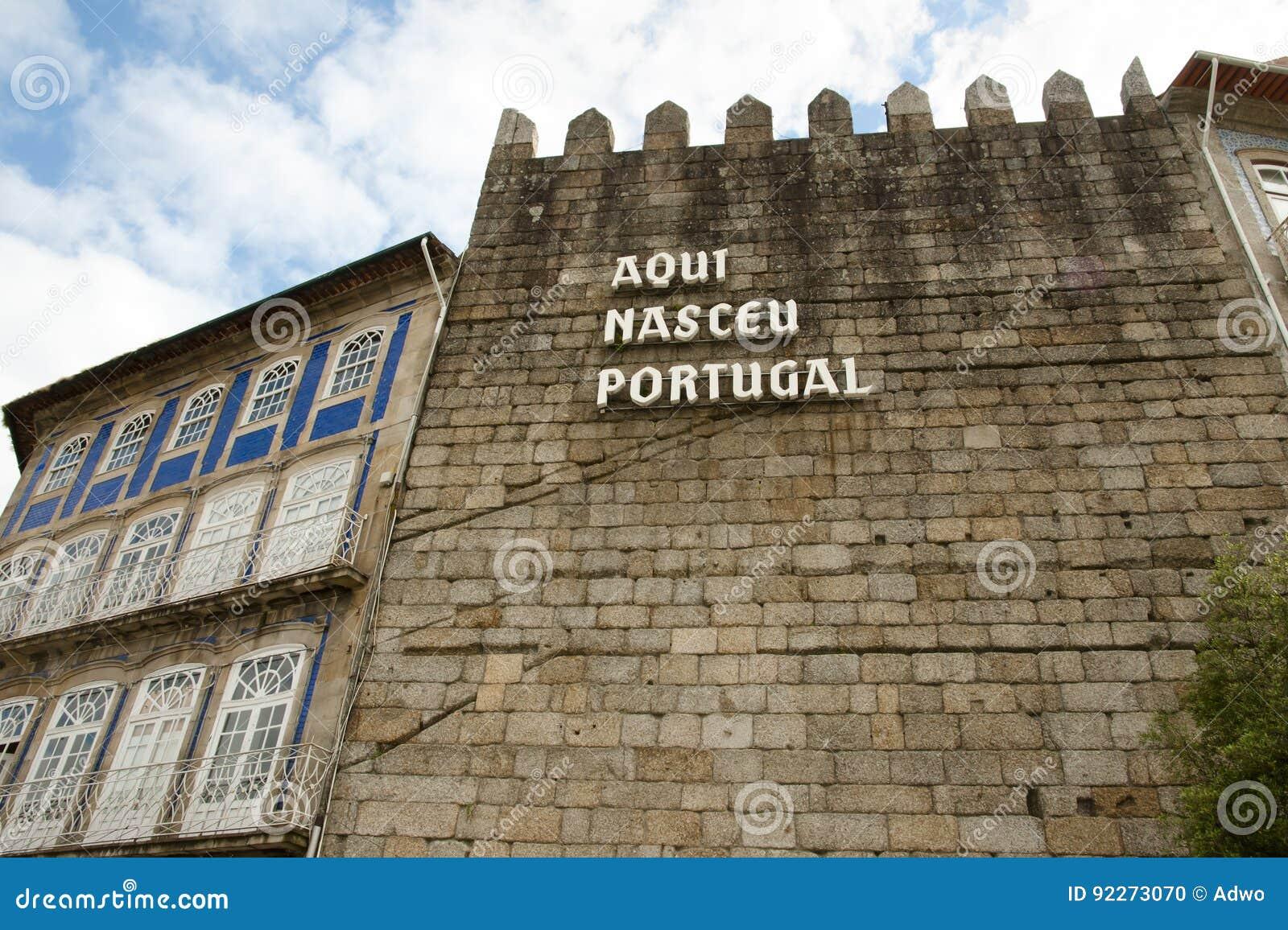 ` Aqui Nasceu Portugalia ` Guimaraes, Portugalia -