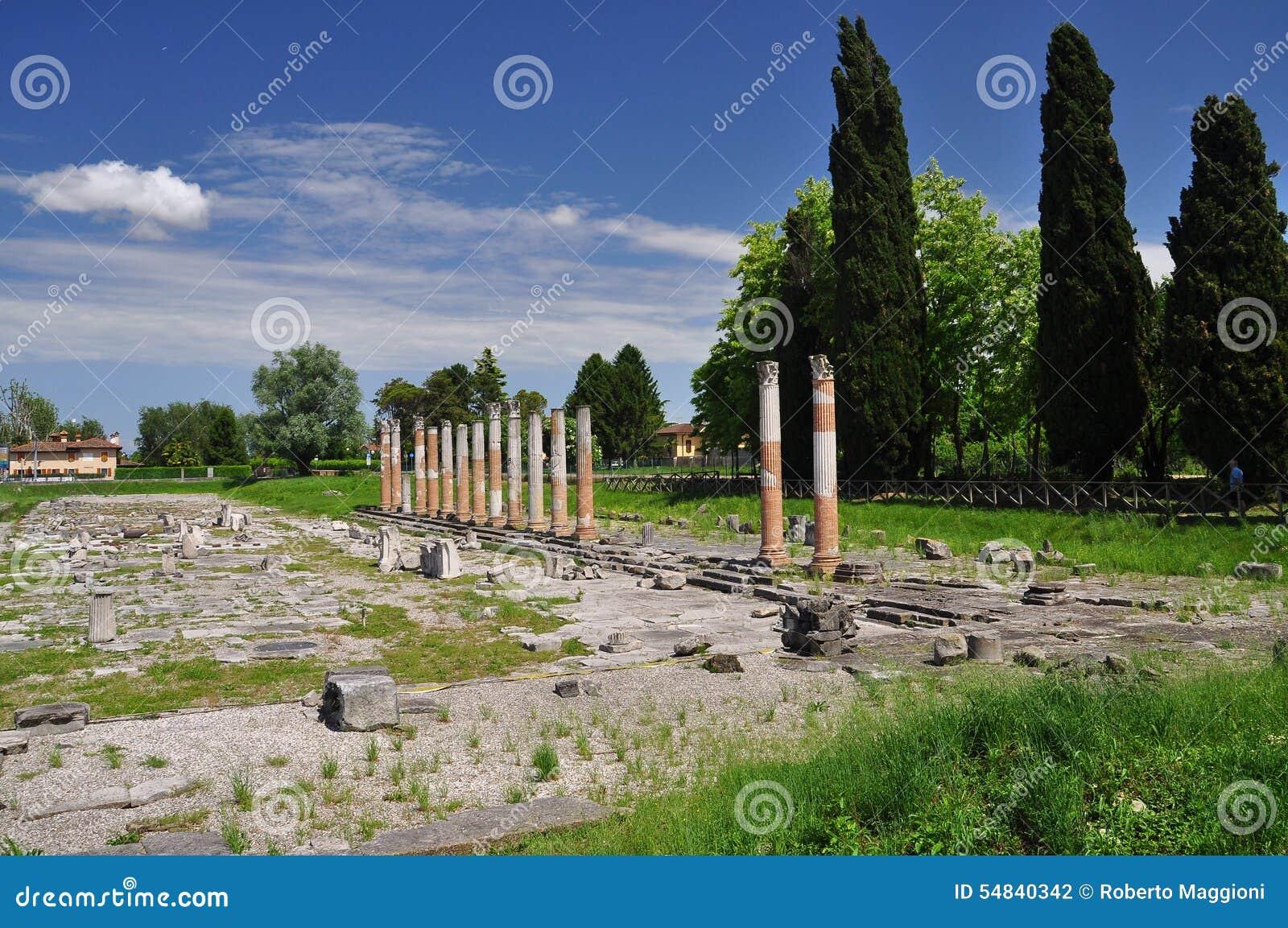 Aquileia, Friuli Venezia Giulia, Италия римские руины