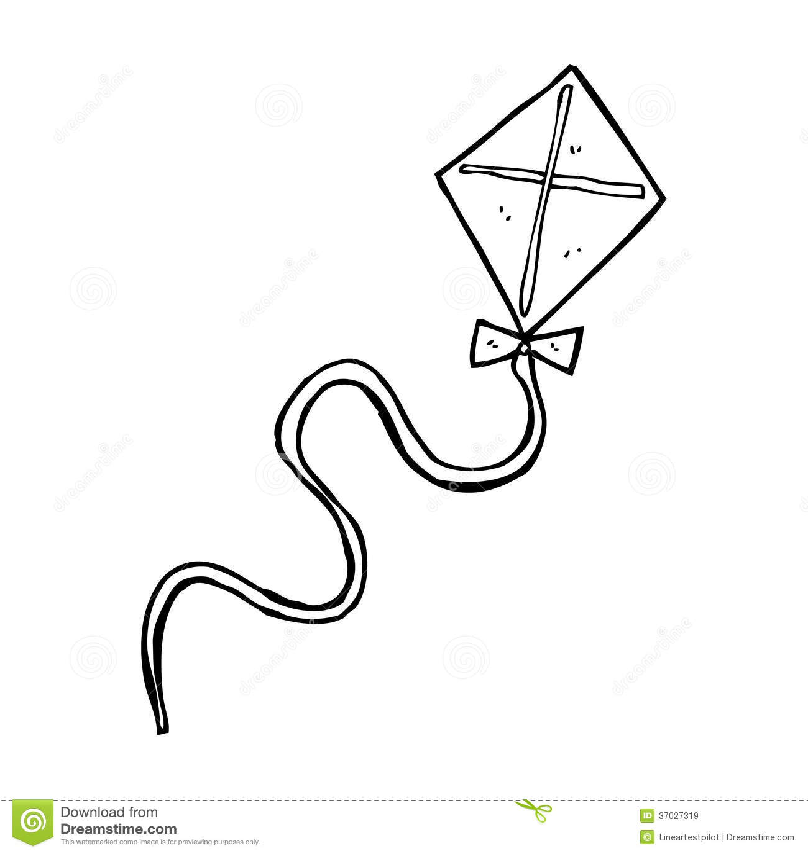 clipart black and white kite - photo #49