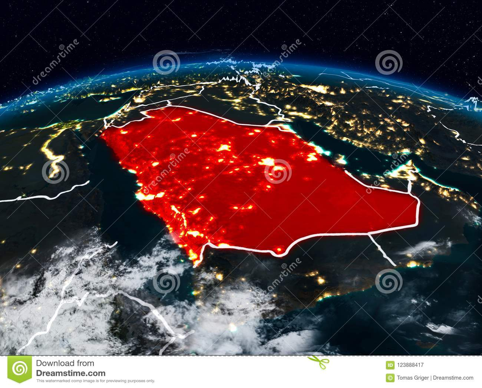 Arábia Saudita na noite
