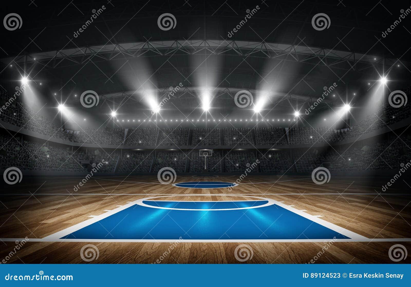Arène de basket-ball, rendu 3d