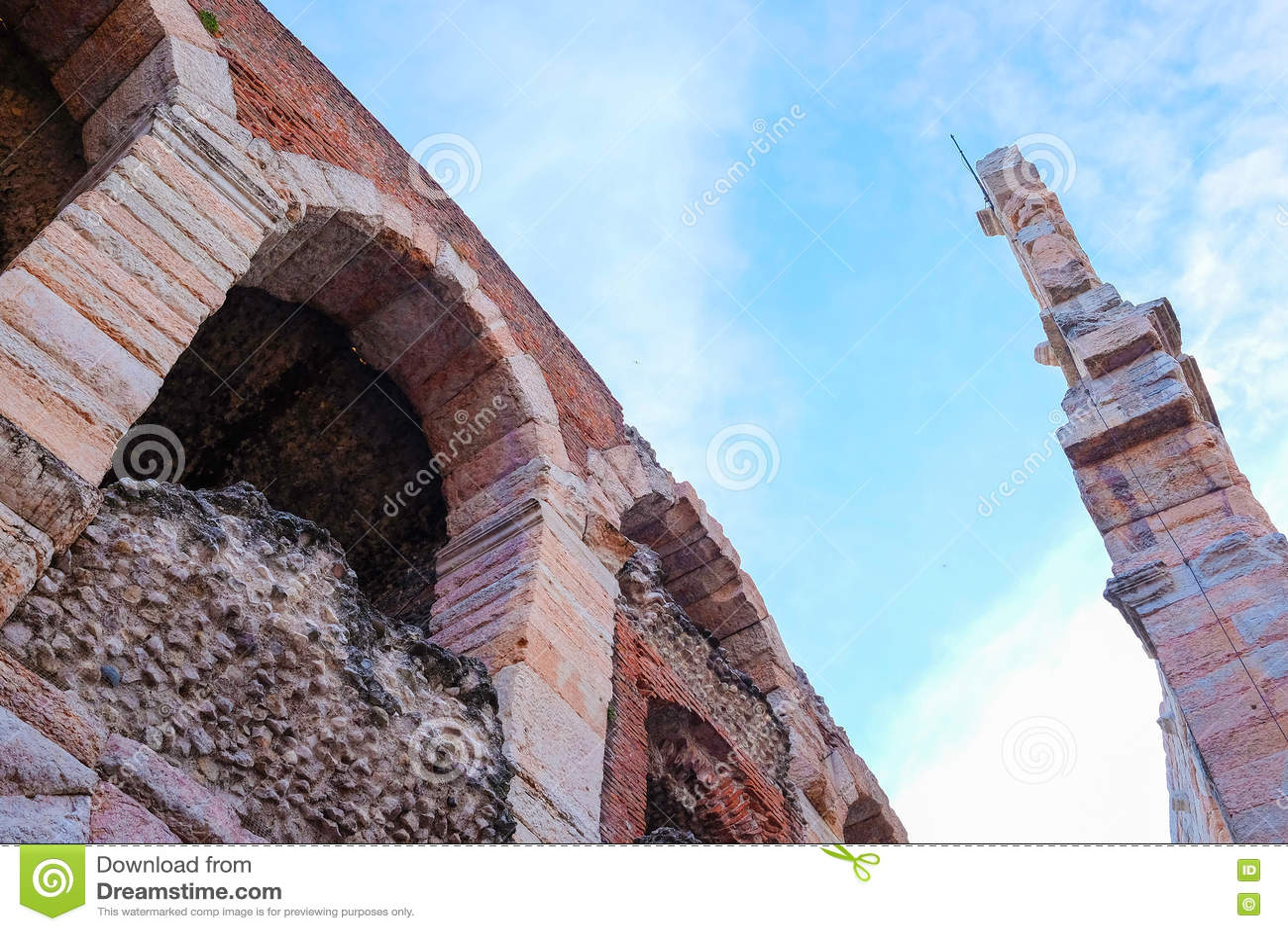 Arène de mur de Vérone