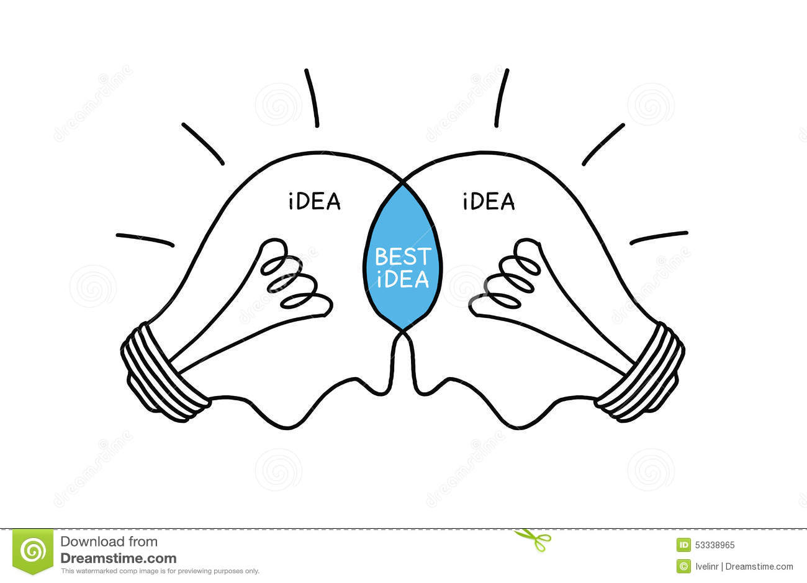 Żarówki pojęcia Najlepszy pomysł