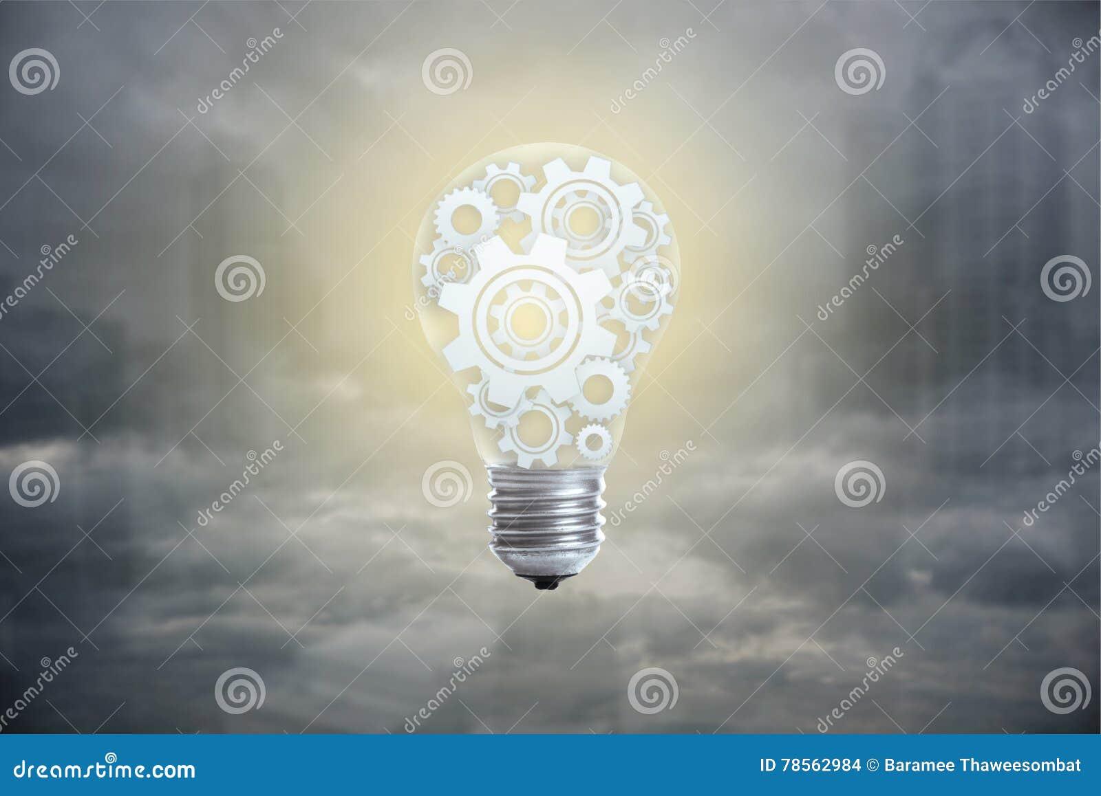 Żarówki pojęcie dla doskonałego pomysłu, innowaci i inspiraci,