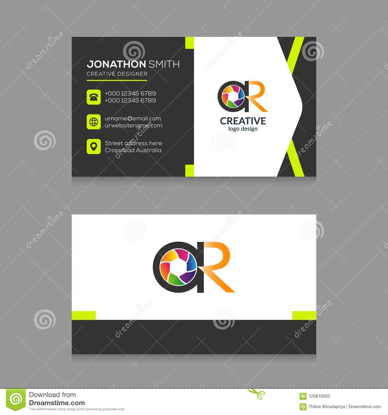 Ar Photography Abstract Letter Logo Business Card Design Template Vector Stock Vector Illustration Of Digital Creative 120816005