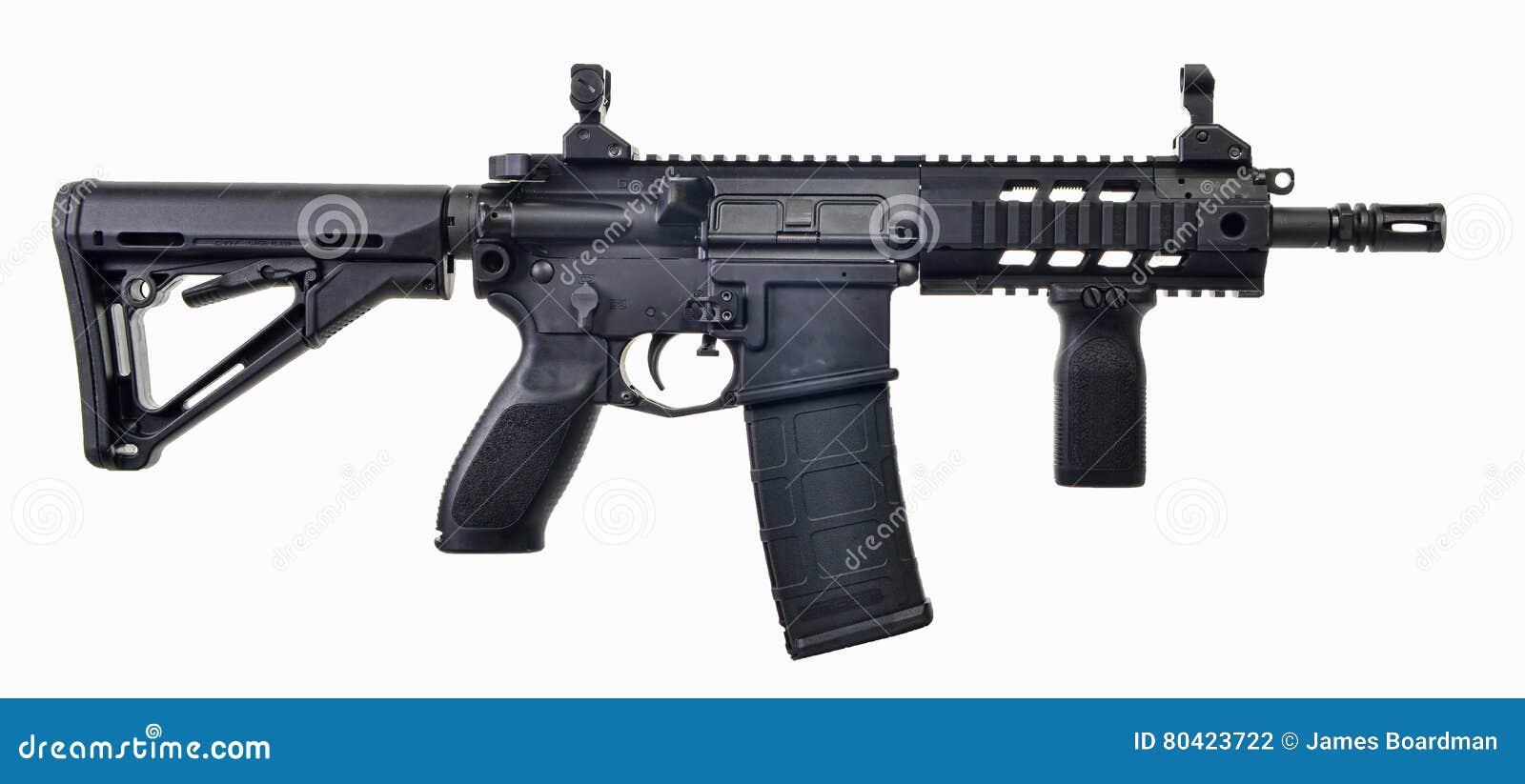 AR15 SBR med 30. mag och det hopfällbara materielet