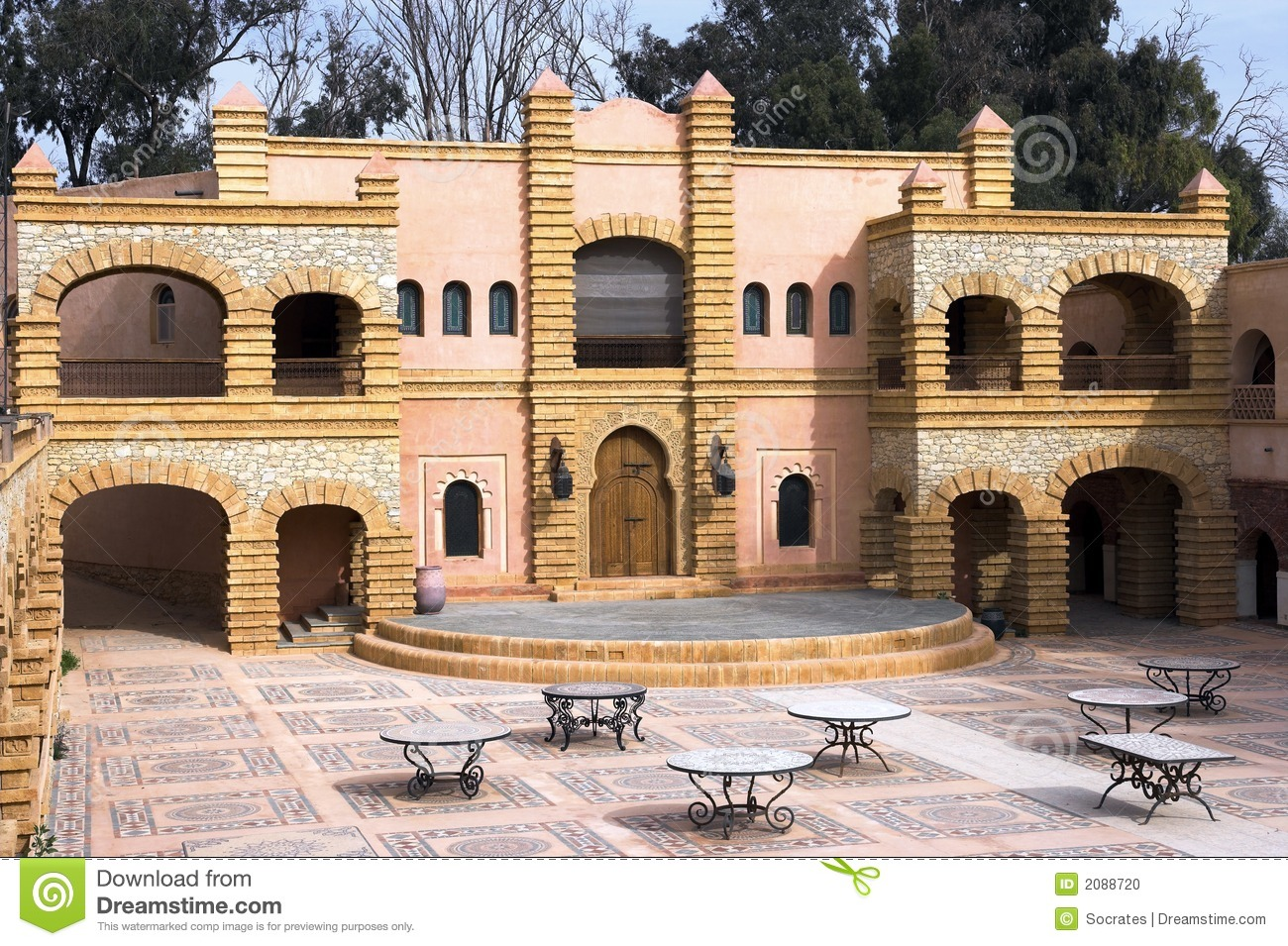 Arab architecture morocco stock photo image 2088720 for Architecture arabe