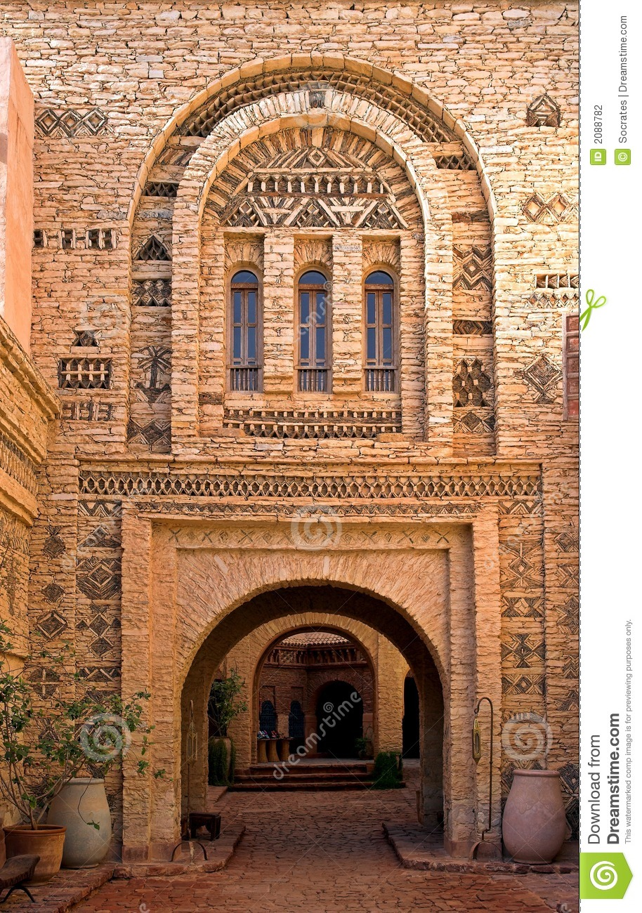 Arab architecture morocco stock photography image 2088782 for Architecture arabe