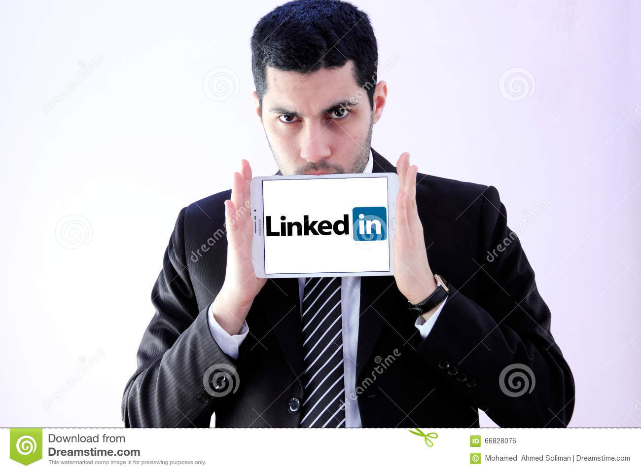 Arab business man with linked in