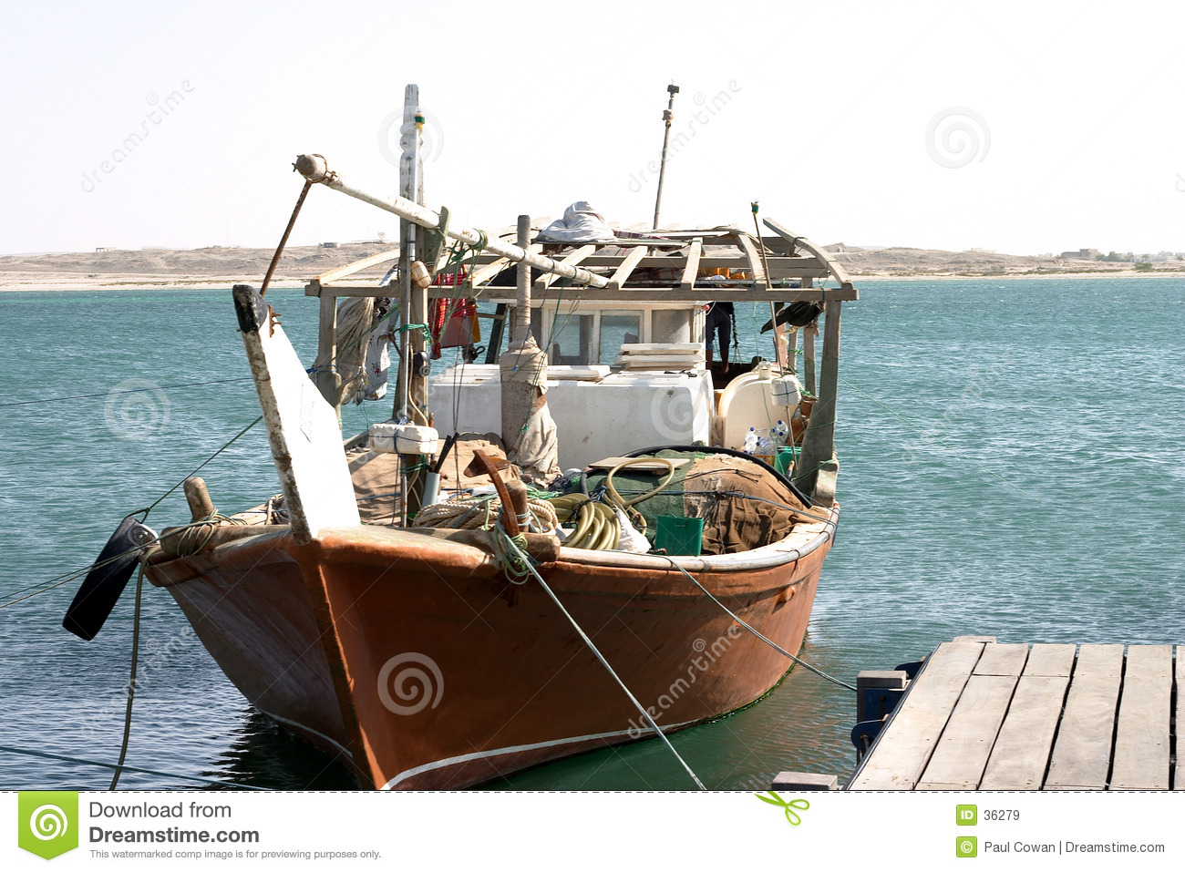 Arab dhow fishing
