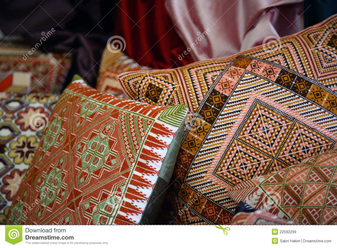 arab arabic bedouin embroidered handmade pillows