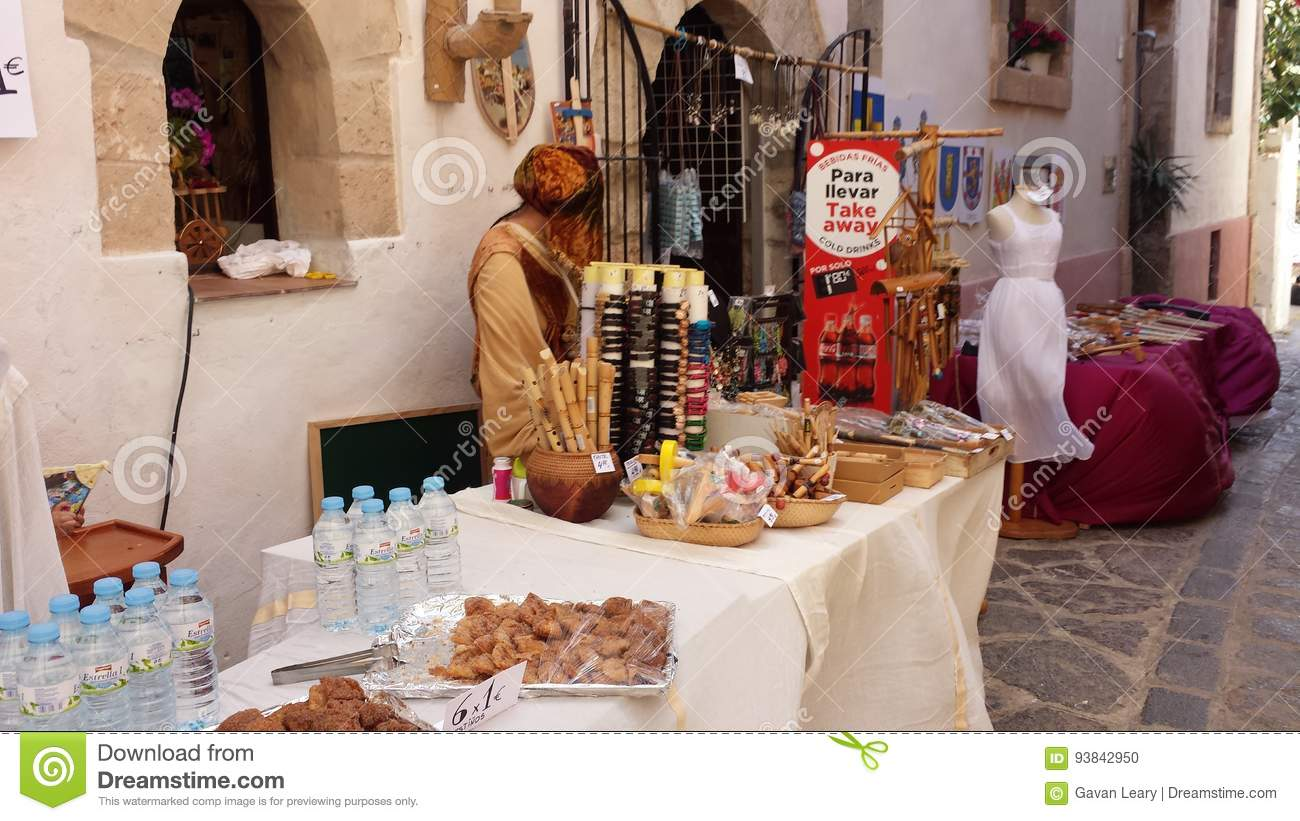 arab markets ibiza spain editorial image. image of costume - 93842950