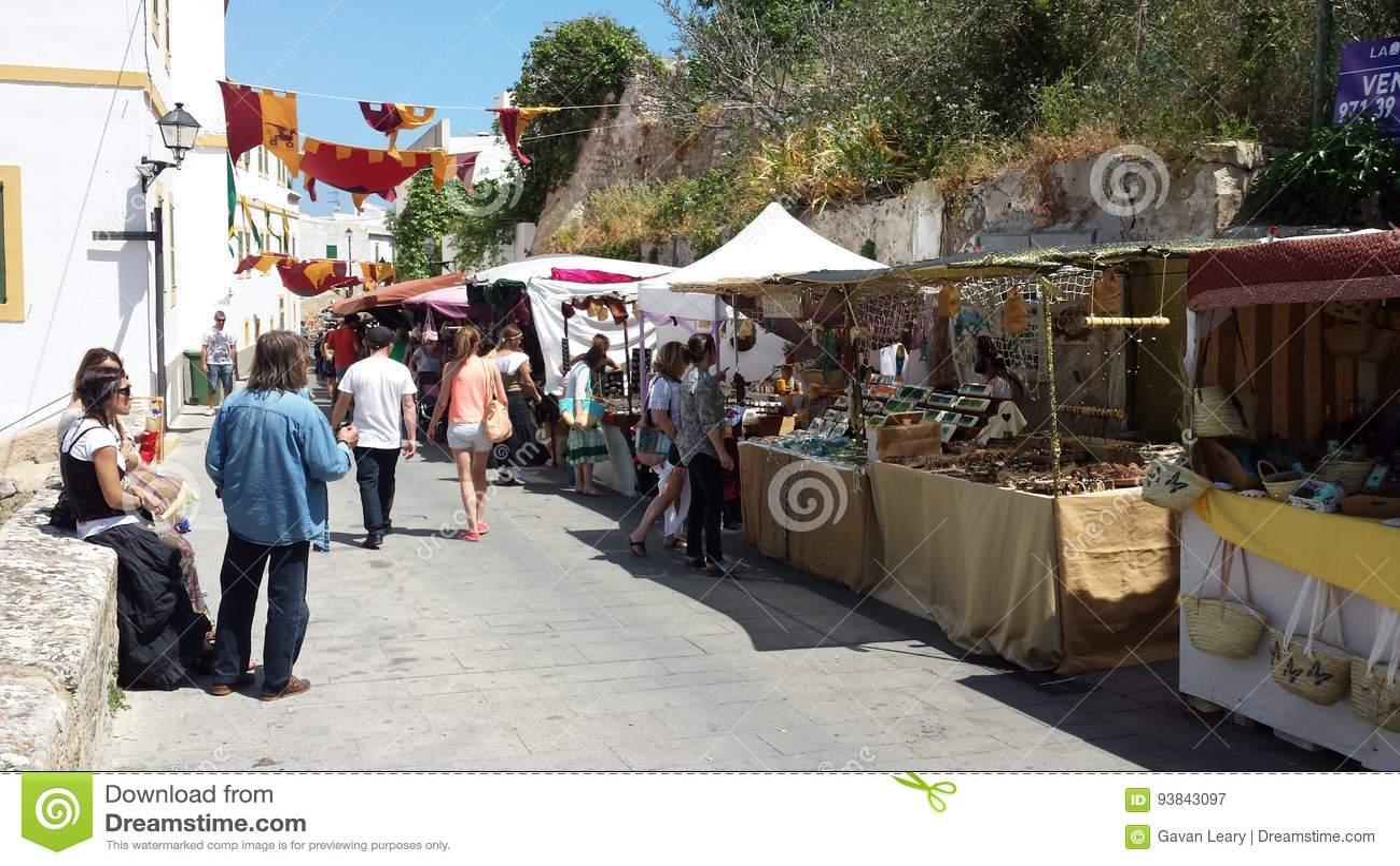 arab markets ibiza spain editorial photography. image of balearic