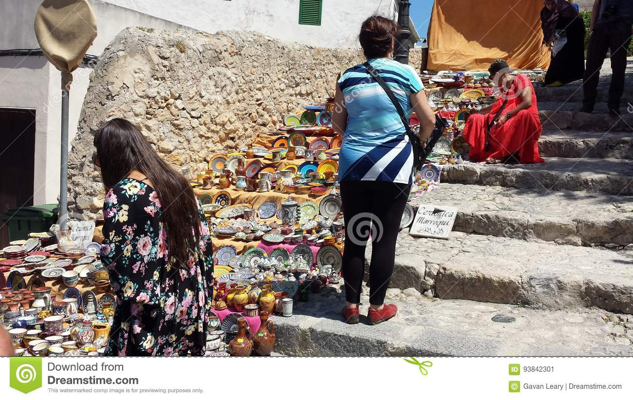 arab markets ibiza spain editorial photo. image of crowds - 93842301