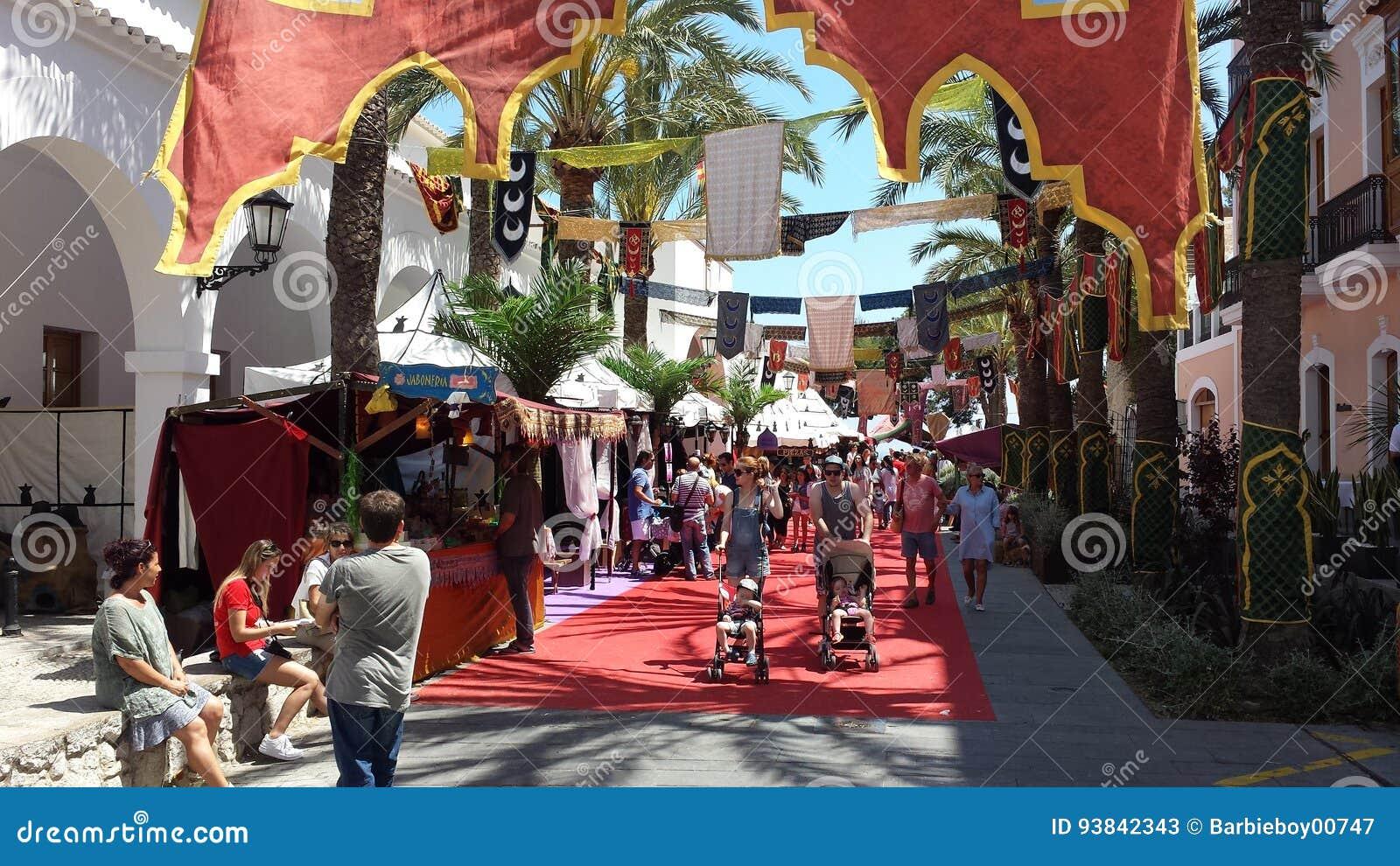 arab markets ibiza spain editorial stock photo. image of europe
