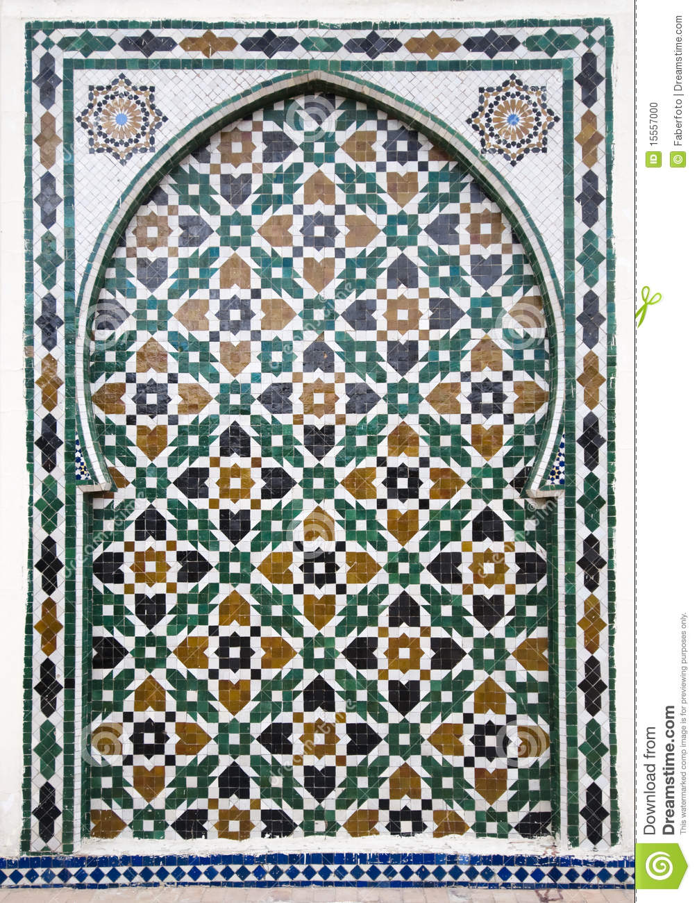 Arab Mosaic Stock Photo Image 15557000