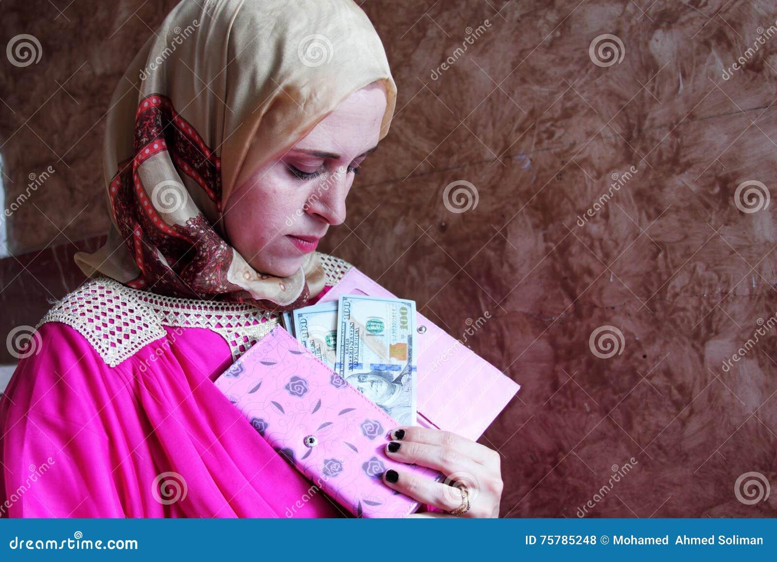 image Arab woman needs money in germany