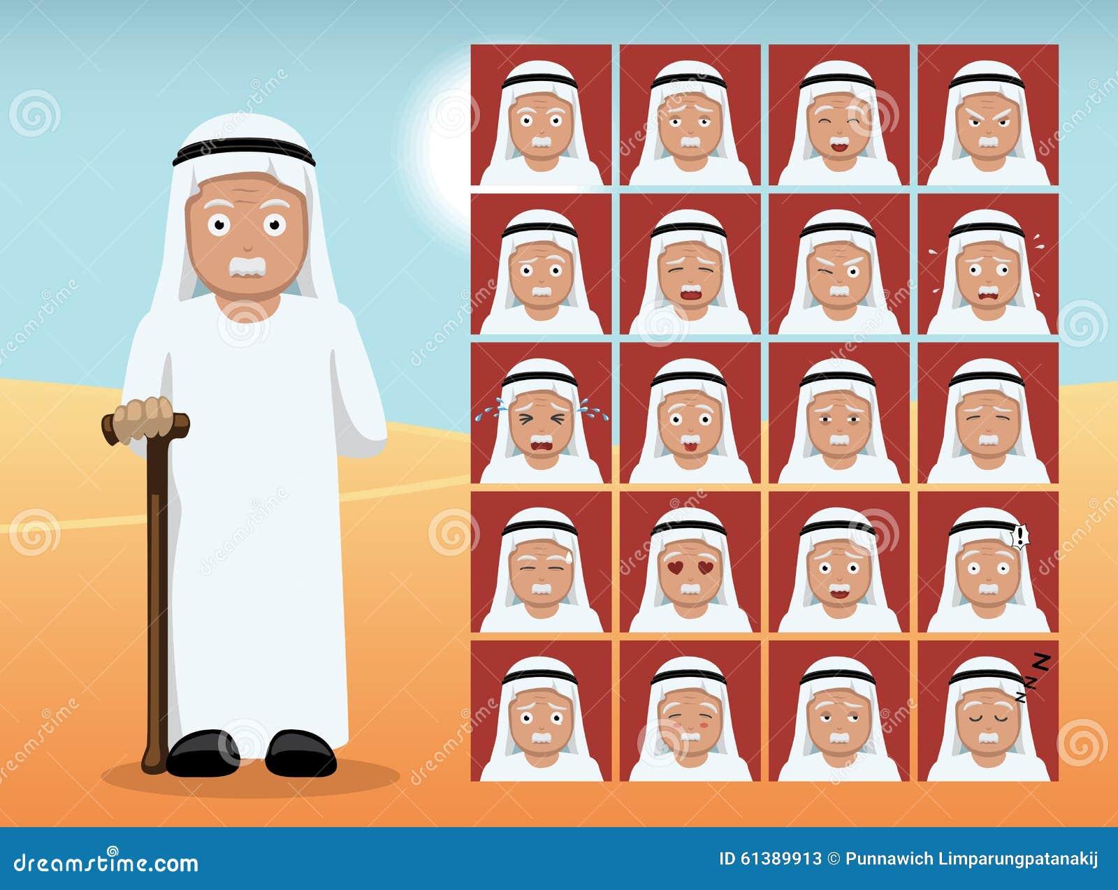 Adolescente árabe en la cámara