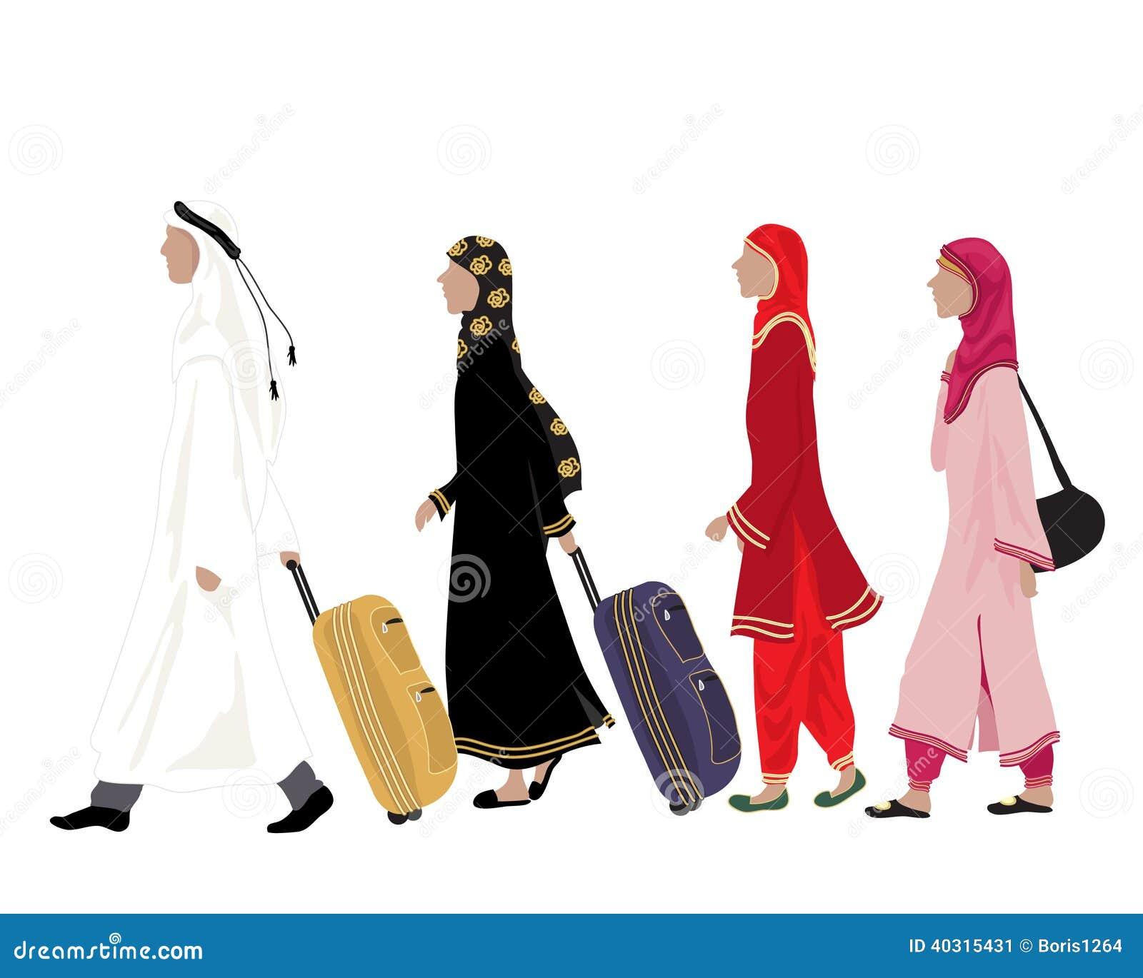 arab people stock vector image of faith asia