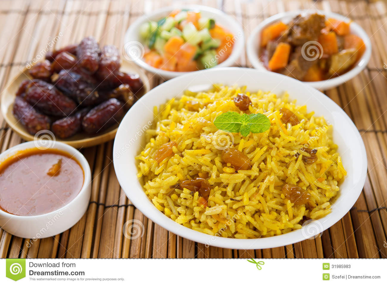 Arab rice stock photos image 31985983 for Arabic cuisine dishes