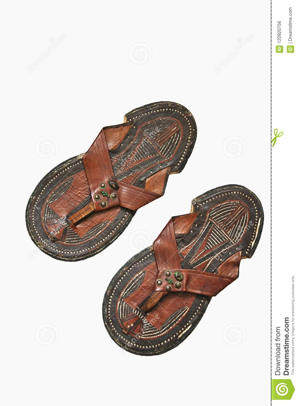 99776f14336 Traditional Foot wear Arab sandals from Ancient Egypt. Ancient and antique  foot wear.