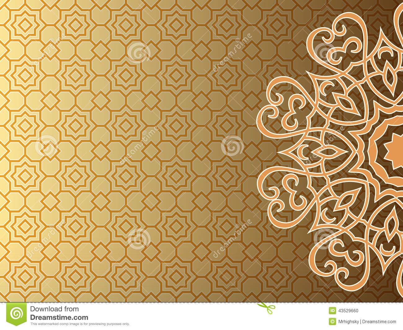 arab style background stock vector image 43529660