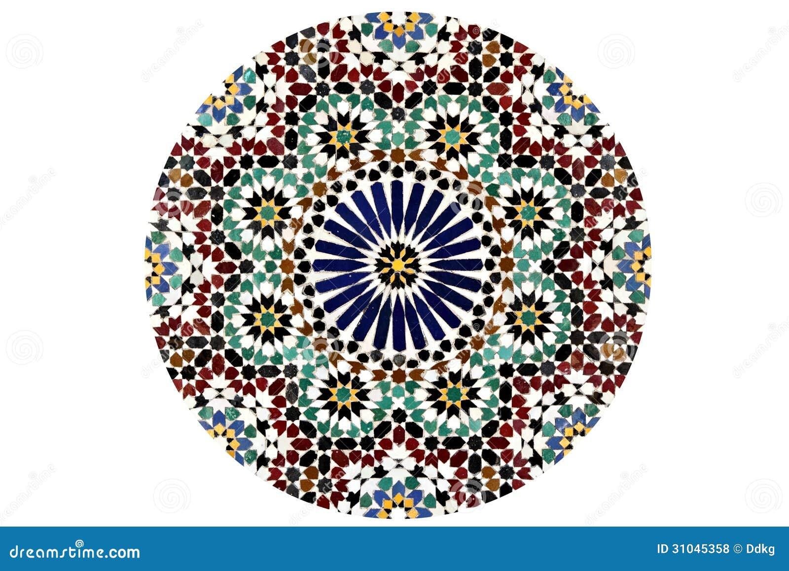 arabesken mosaik muster kreis lokalisiert auf einem weien hintergrund - Mosaik Muster