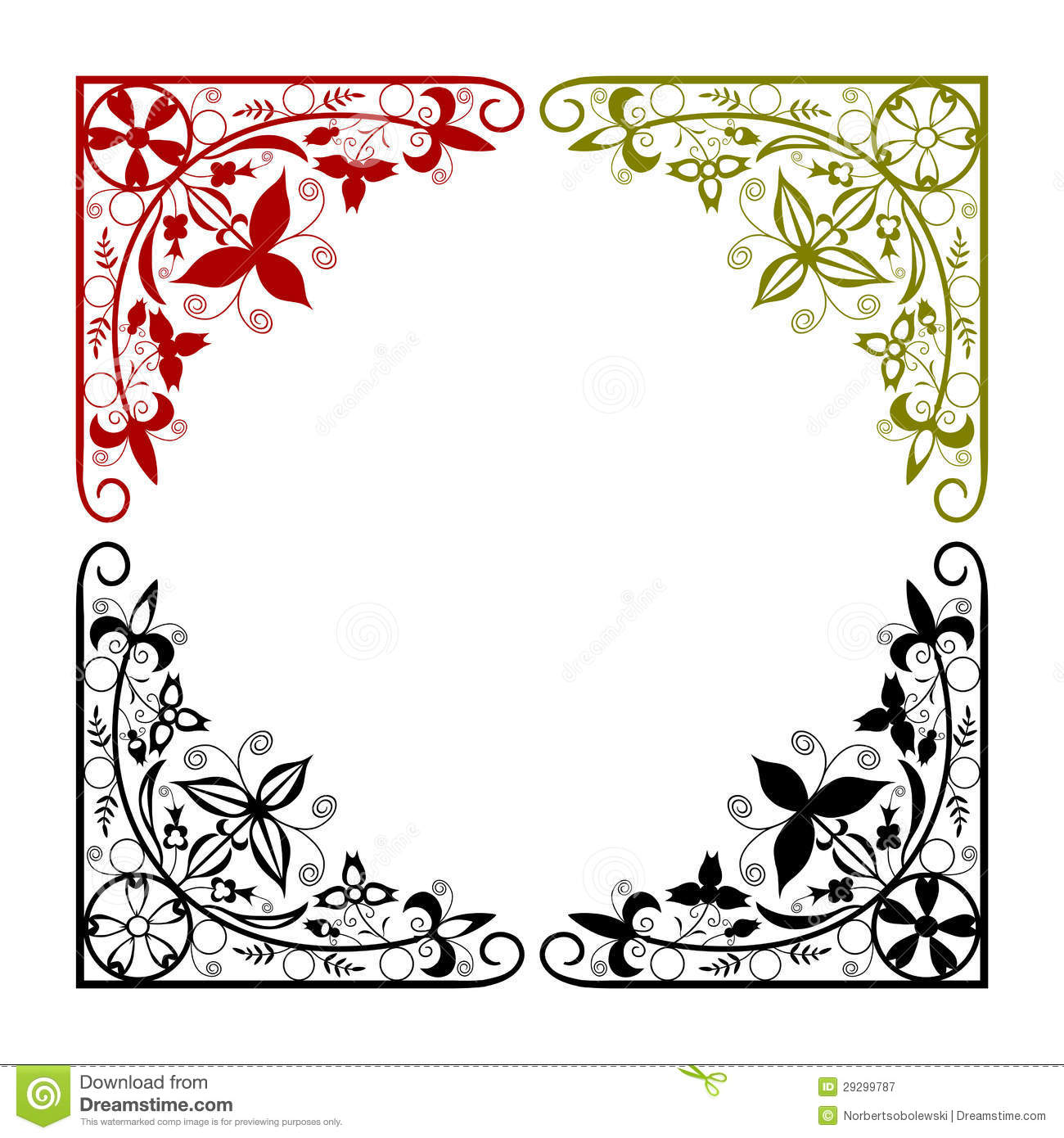 Arabesque corner in a circle on a white background. Easy to put in any ... Easy Arabesque Art