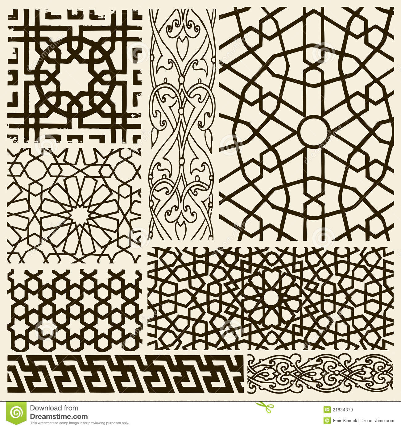 Arabesque designs stock vector image of orient pattern for Arabesque style decoration