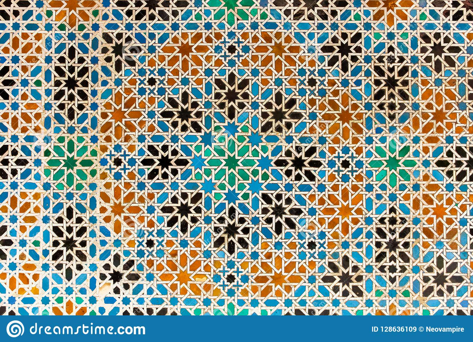 Arabesque with patterns from Granada, Spain