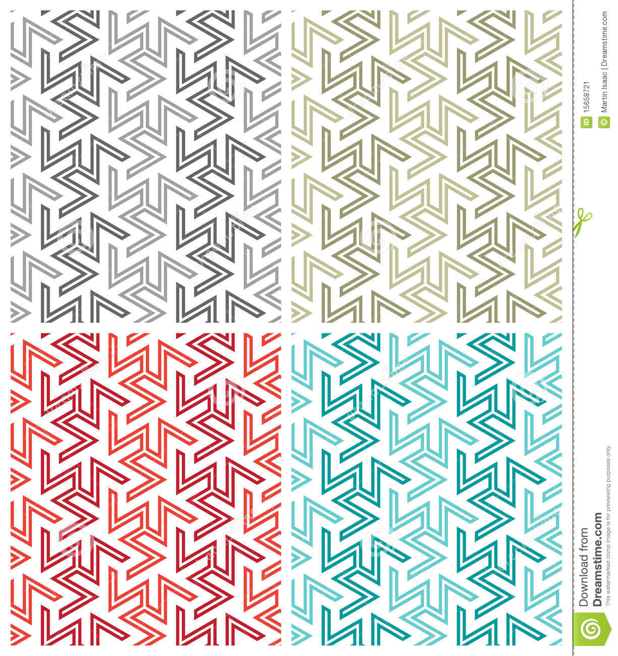 Download Arabesque Repeat Patterns stock vector. Illustration of repeating - 15658721