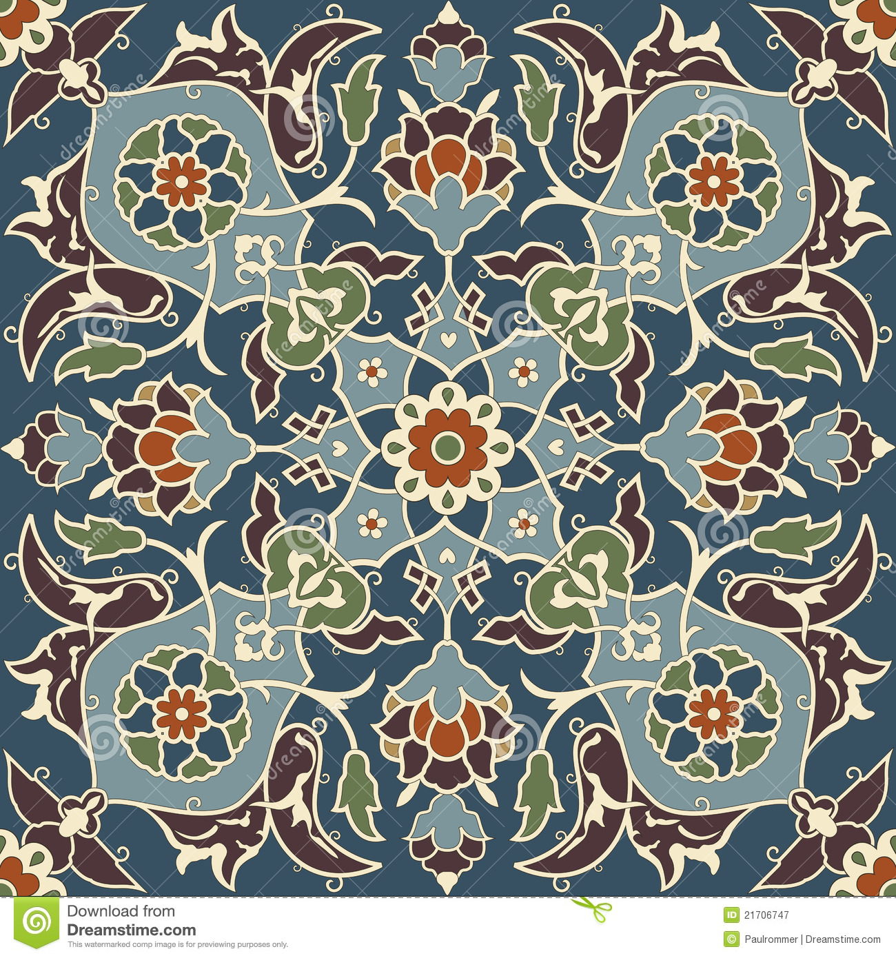 Download Arabesque seamless pattern stock vector. Illustration of background - 21706747