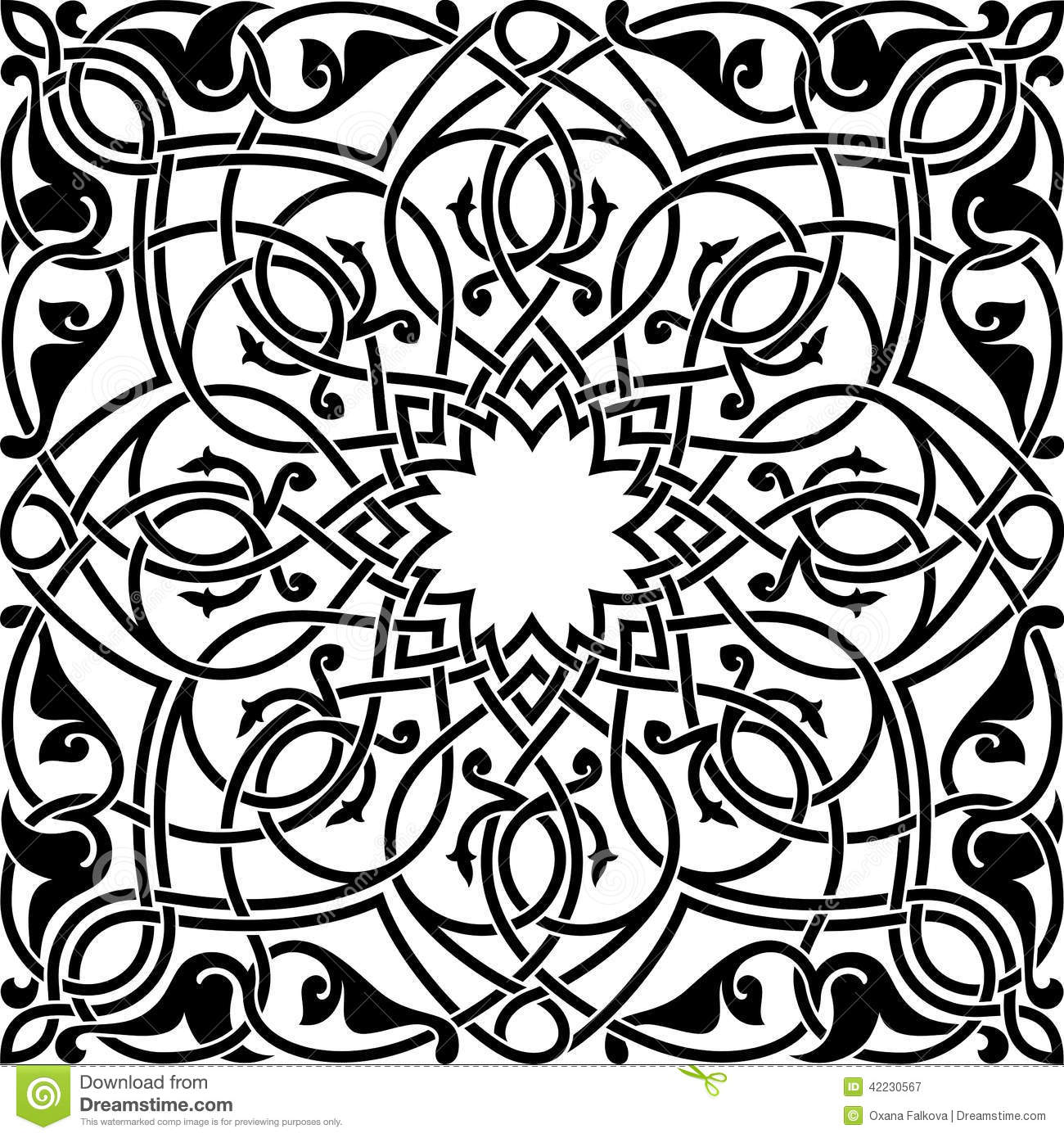 Arabesque Stock Vector Image 42230567