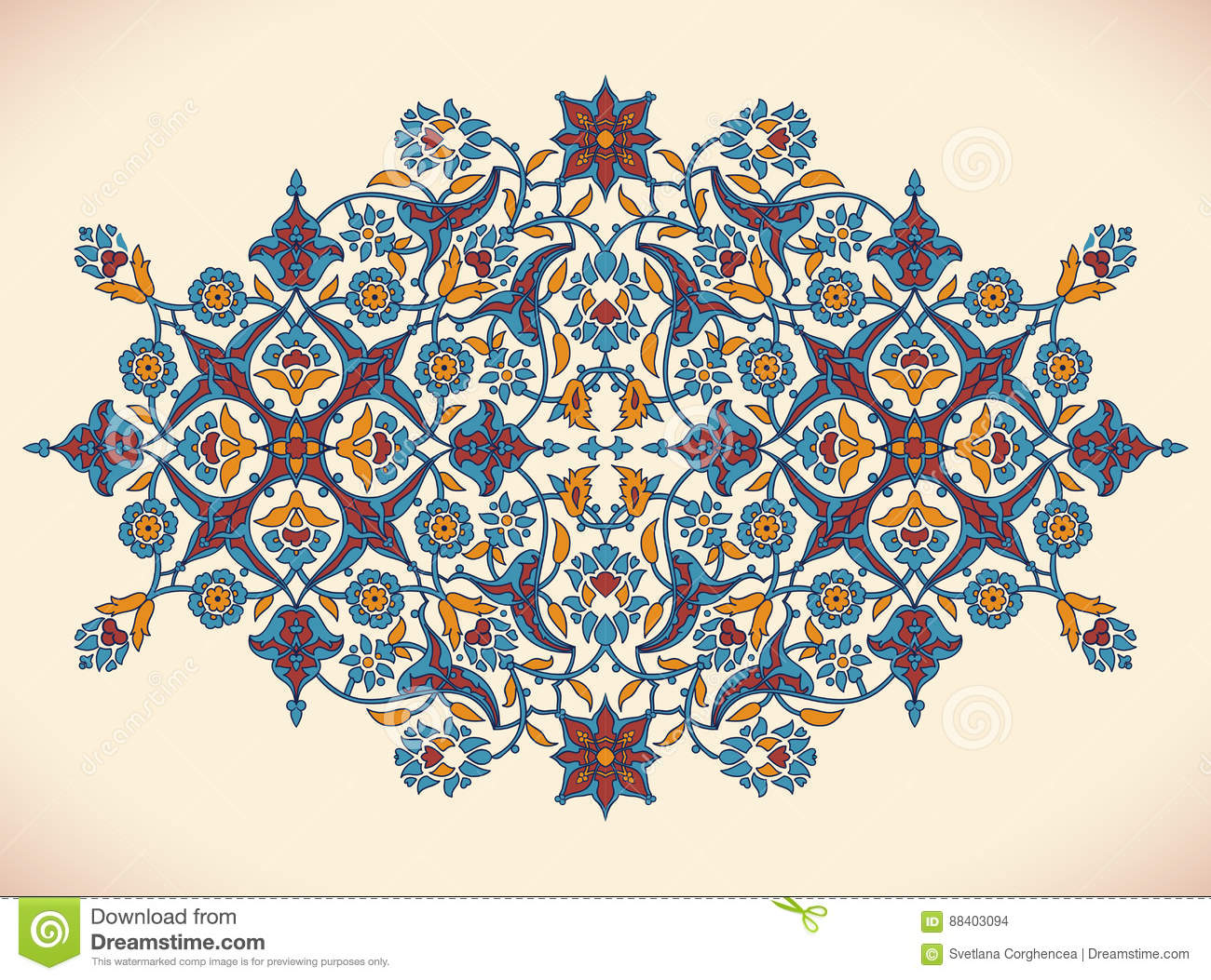 Arabesque vintage elegant floral decoration print for for Arabesque style decoration